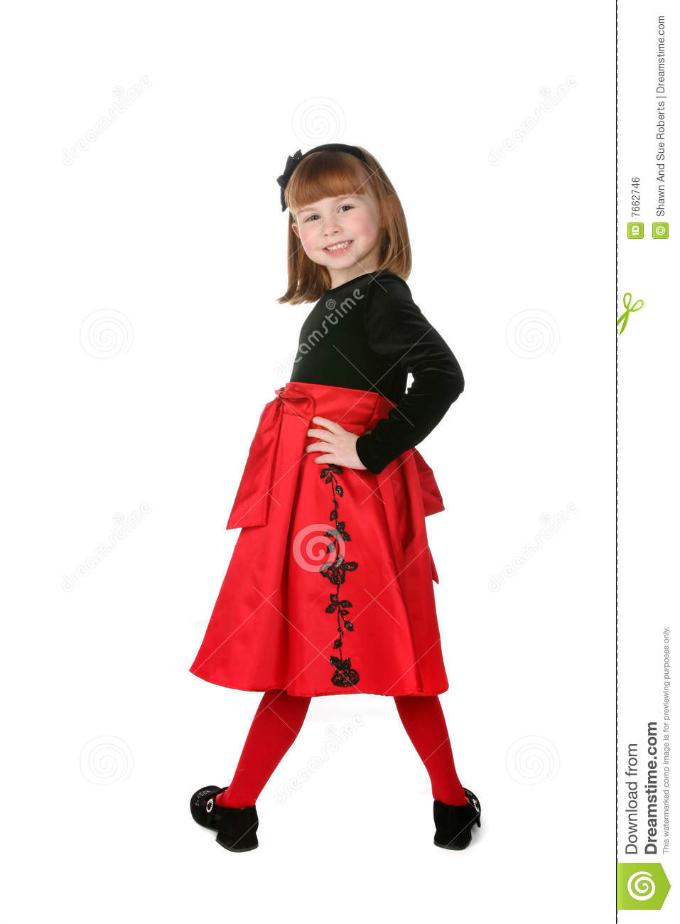 16cfe98e4f9bc Pretty Little Girl Wearing Holiday Dress Stock Photo - Image of ...