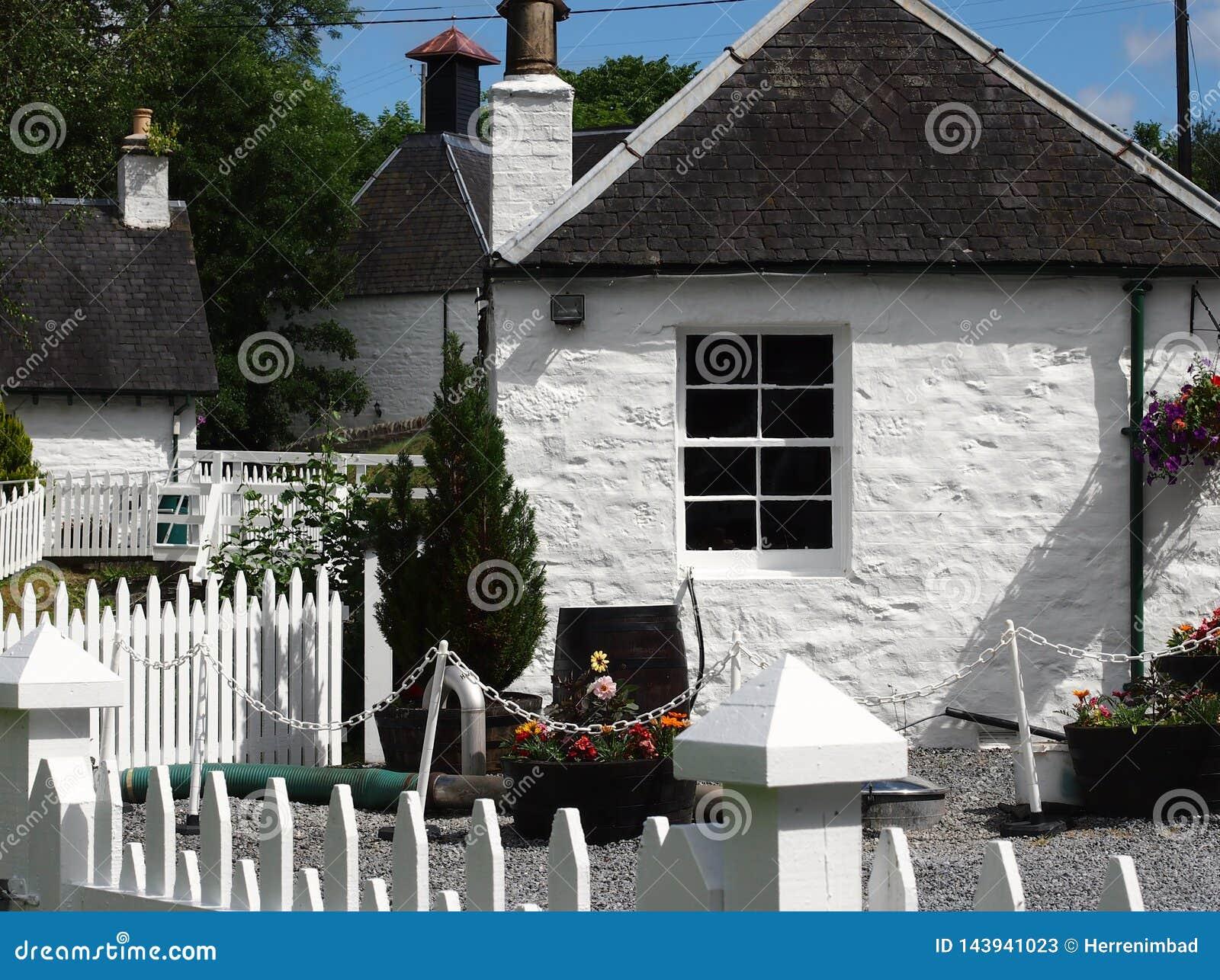 White houses in Scotland