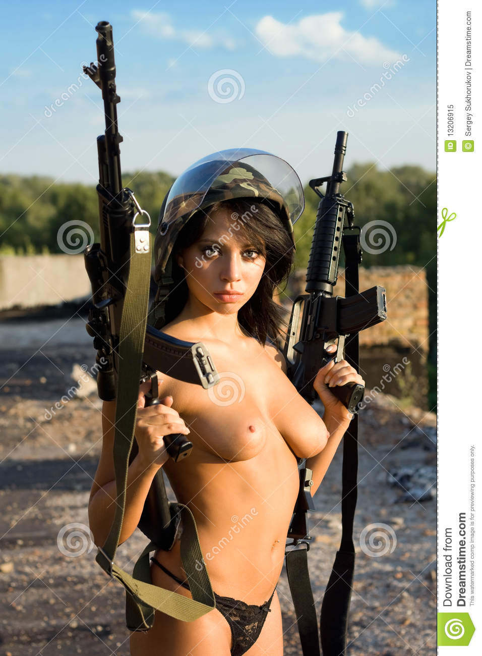 Congratulate, nude girl with a gun