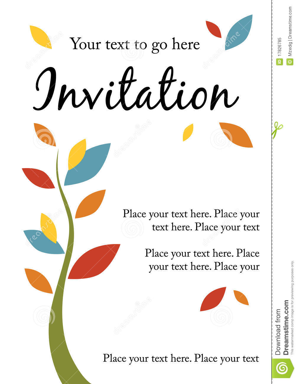 Pretty party invitation stock vector. Illustration of ...