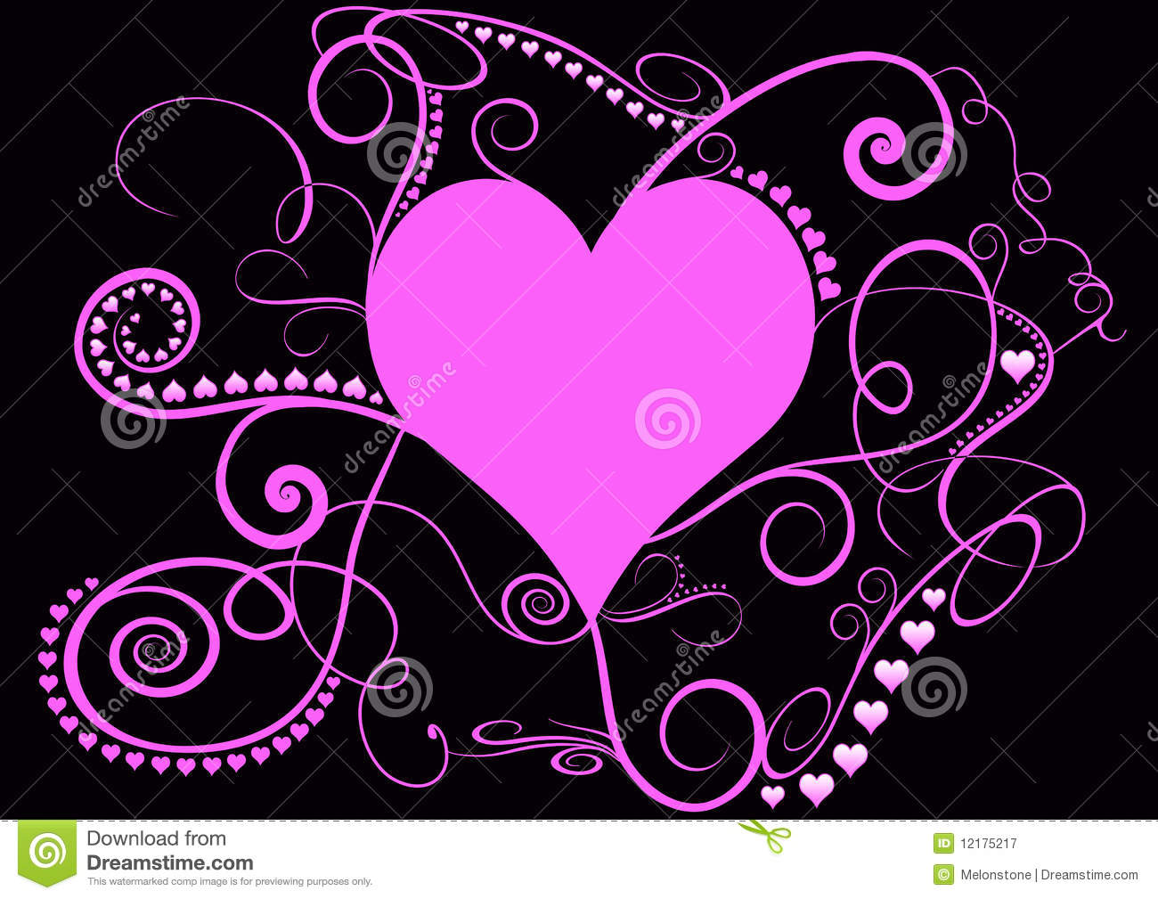 Pretty Pink Spiral Heart Royalty Free Stock Photography ...
