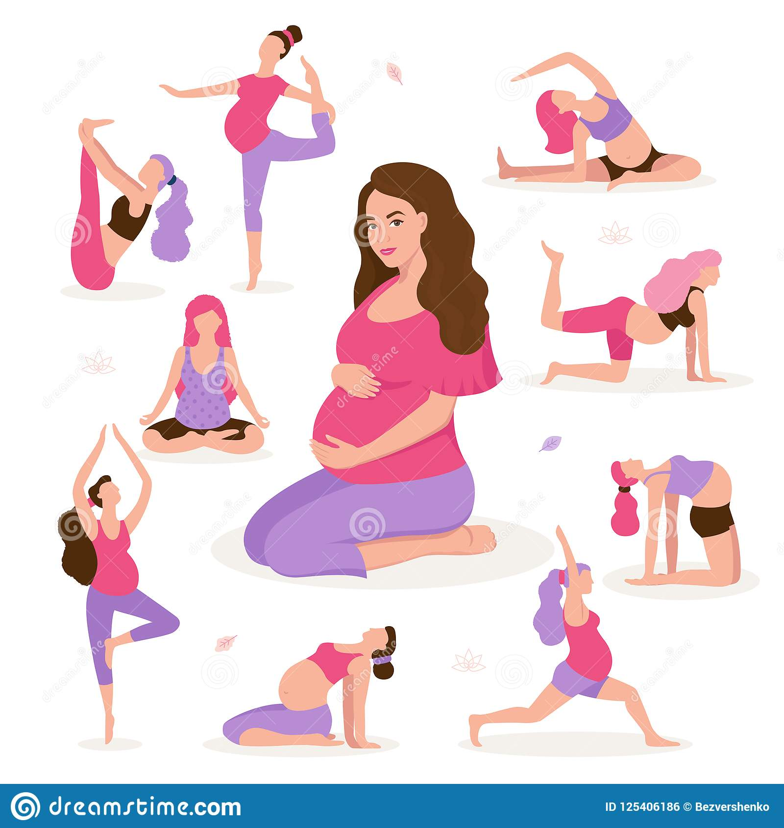 Pregnant Women At Gym Royalty Free Stock Image