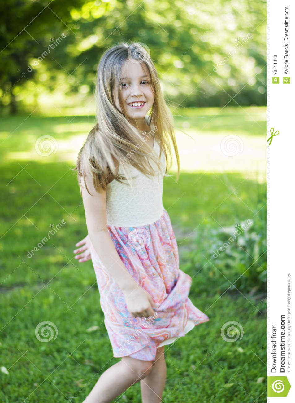 Pre Teen Model Gallery: Girl Wearing Stock Image. Image Of Preteen, Smiling, Gate