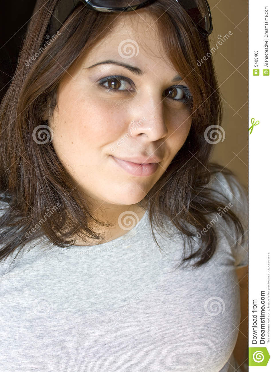 cute Puerto Rican girl in her early twenties with red highlights in ...