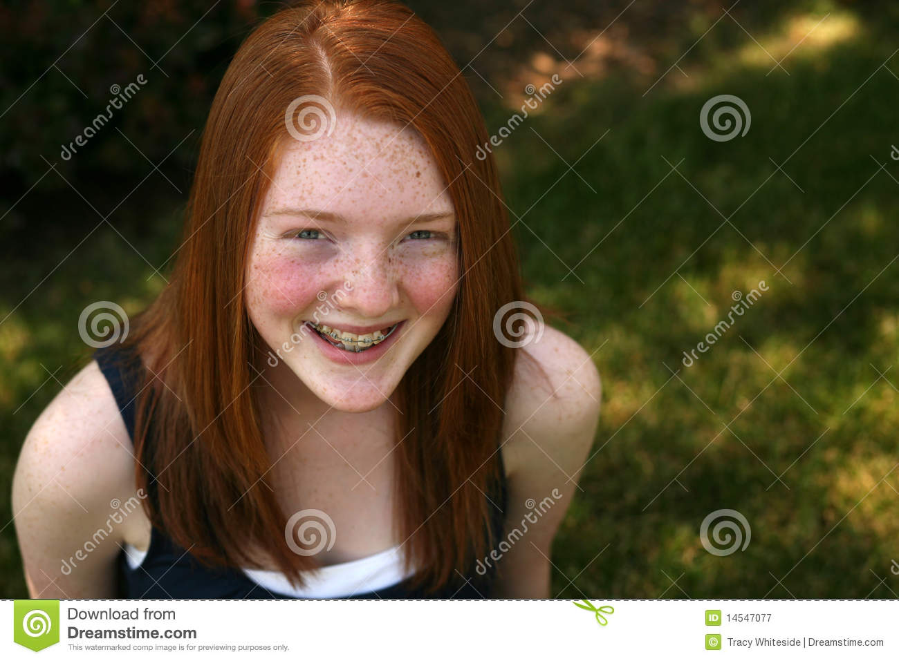 with redhead freckles teen Cute