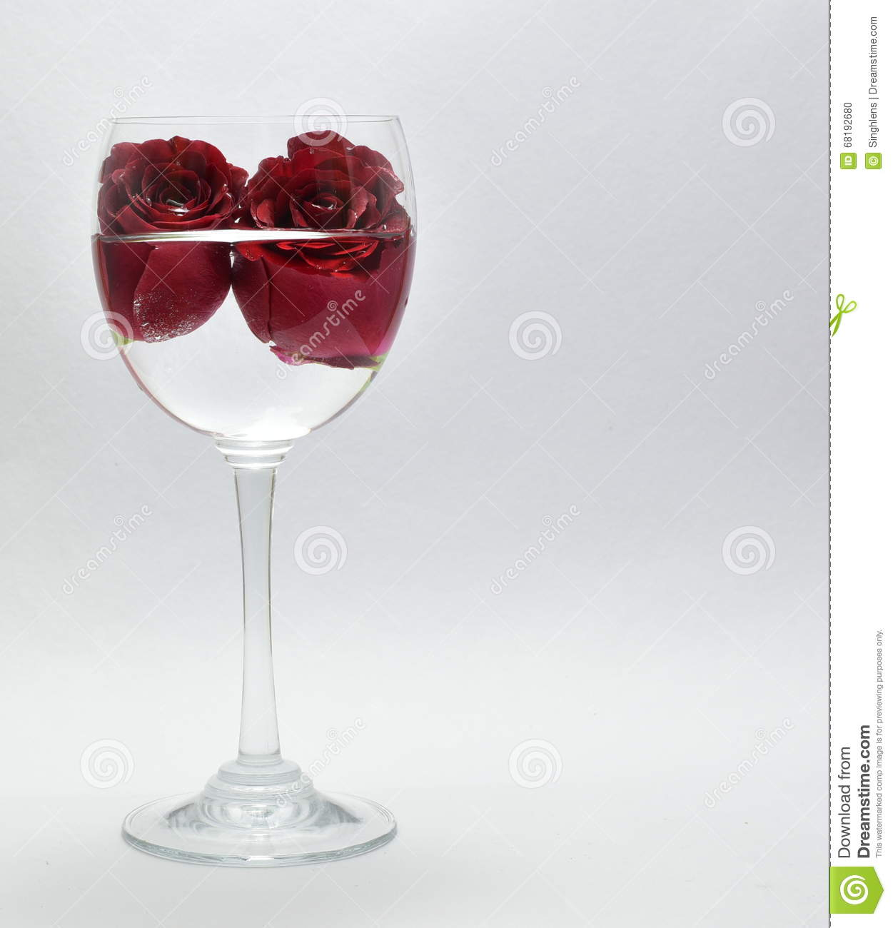 Pretty red roses symbol of love in wine glass stock photo image pretty red roses symbol of love in wine glass biocorpaavc Gallery