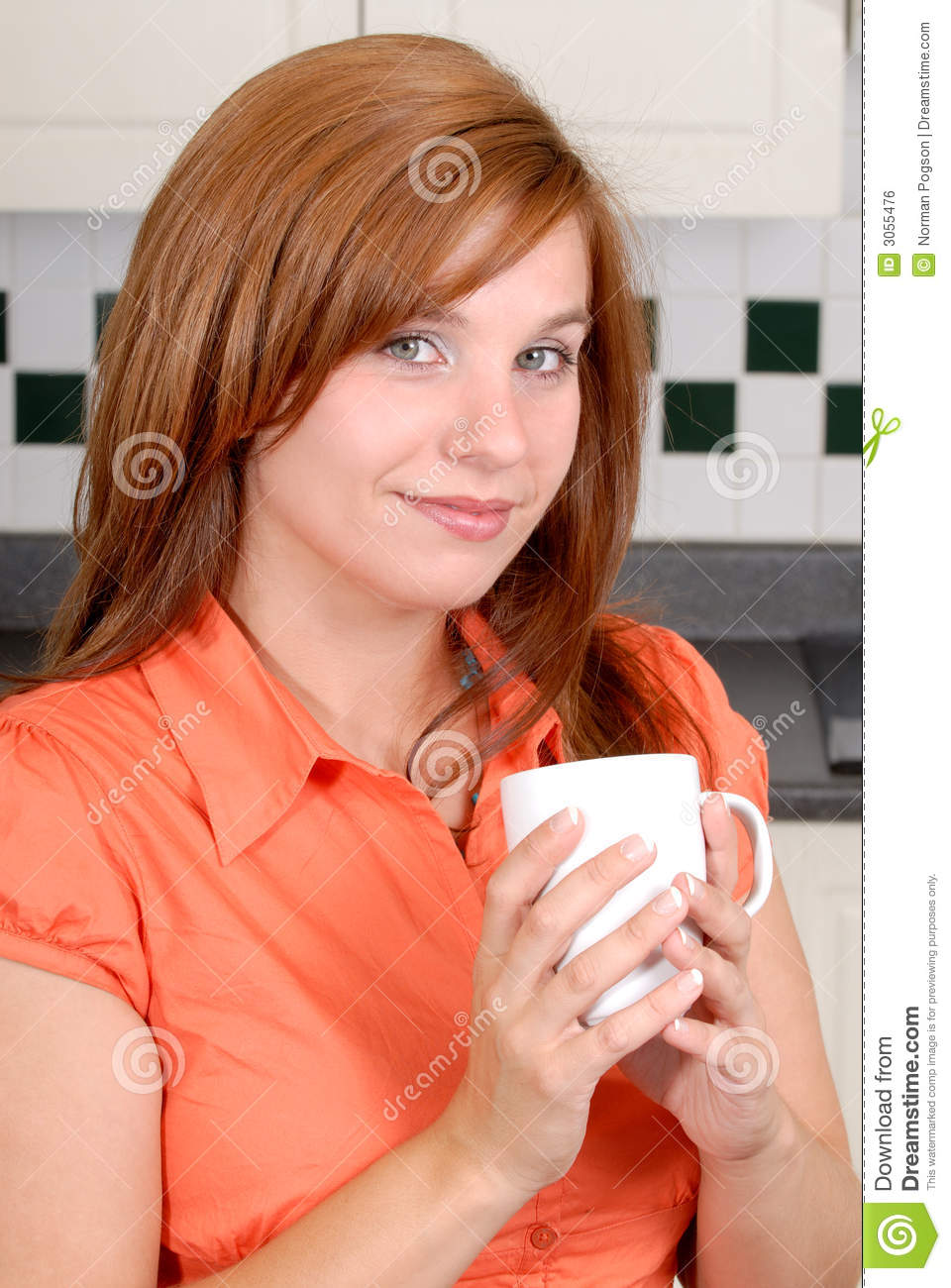 Pretty Redhead Woman Stock Photo Image Of Carefree