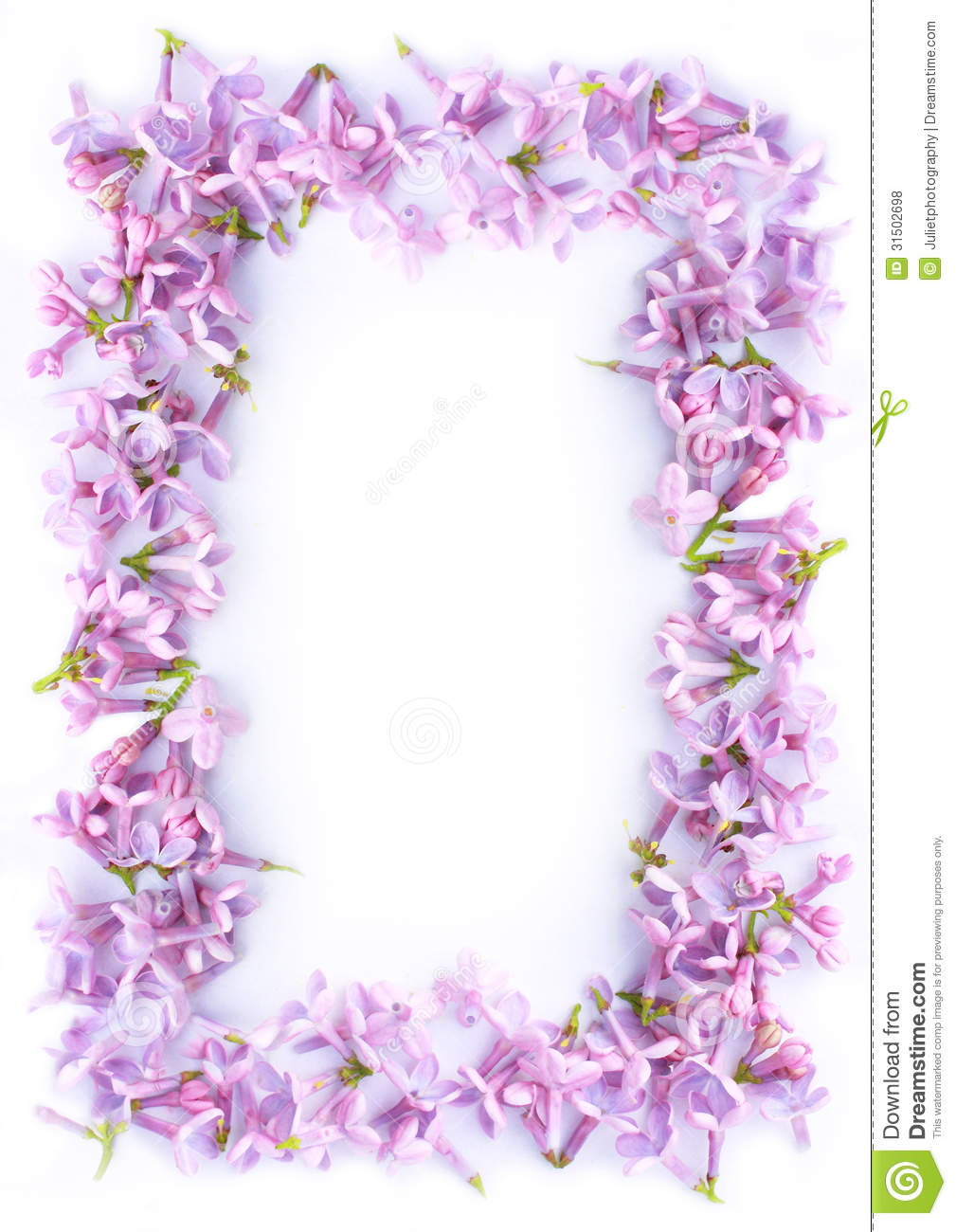 ... Romantic Lilac Frame Royalty Free Stock Photos - Image: 31502698