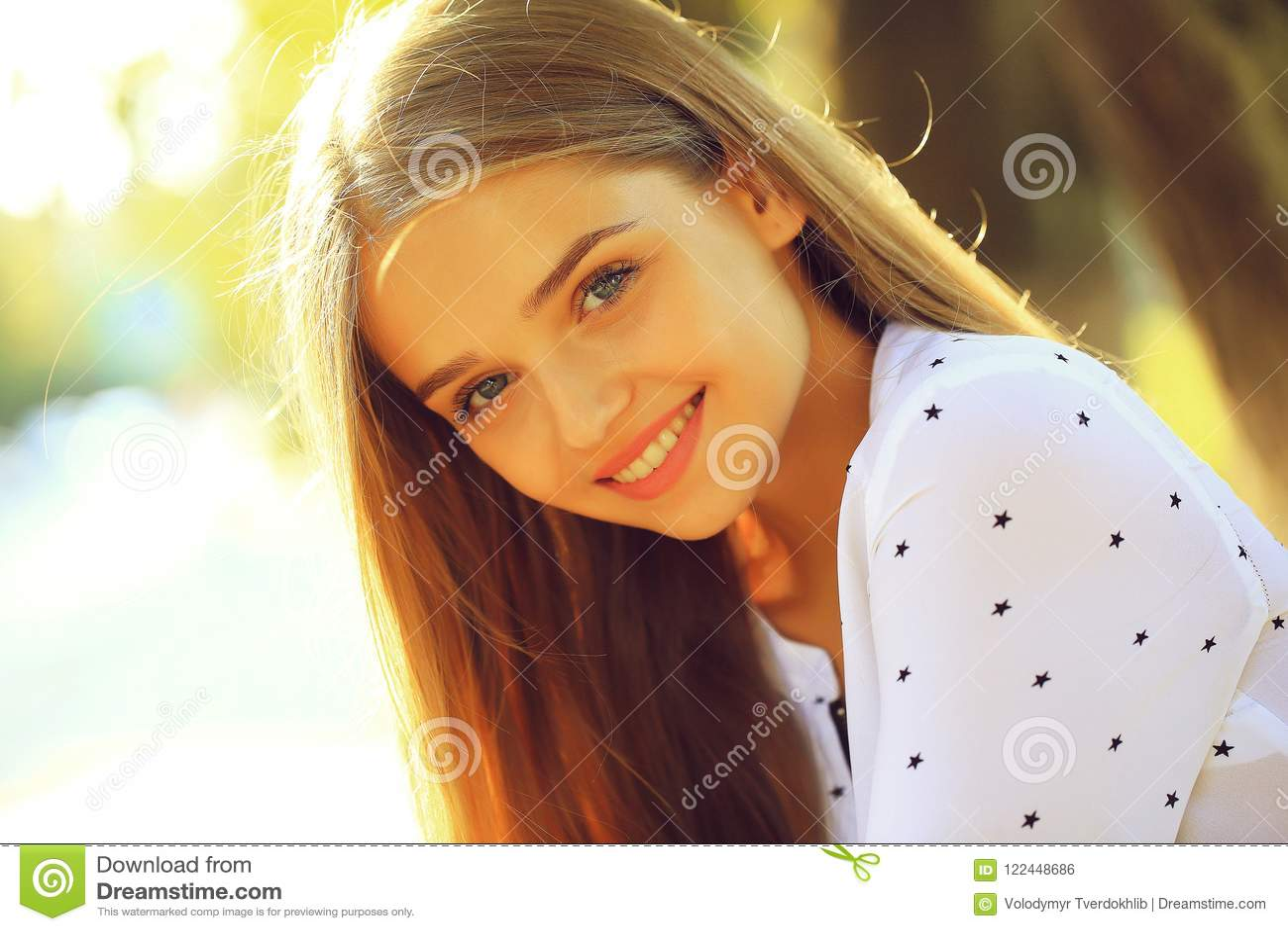 Pretty cute girl young