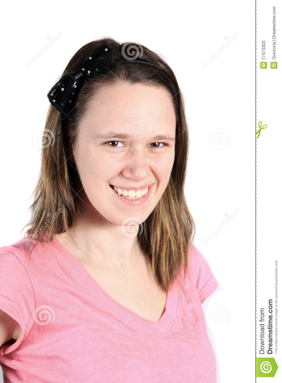 Pretty Sixteen Year Old Girl Smiling Stock Photos