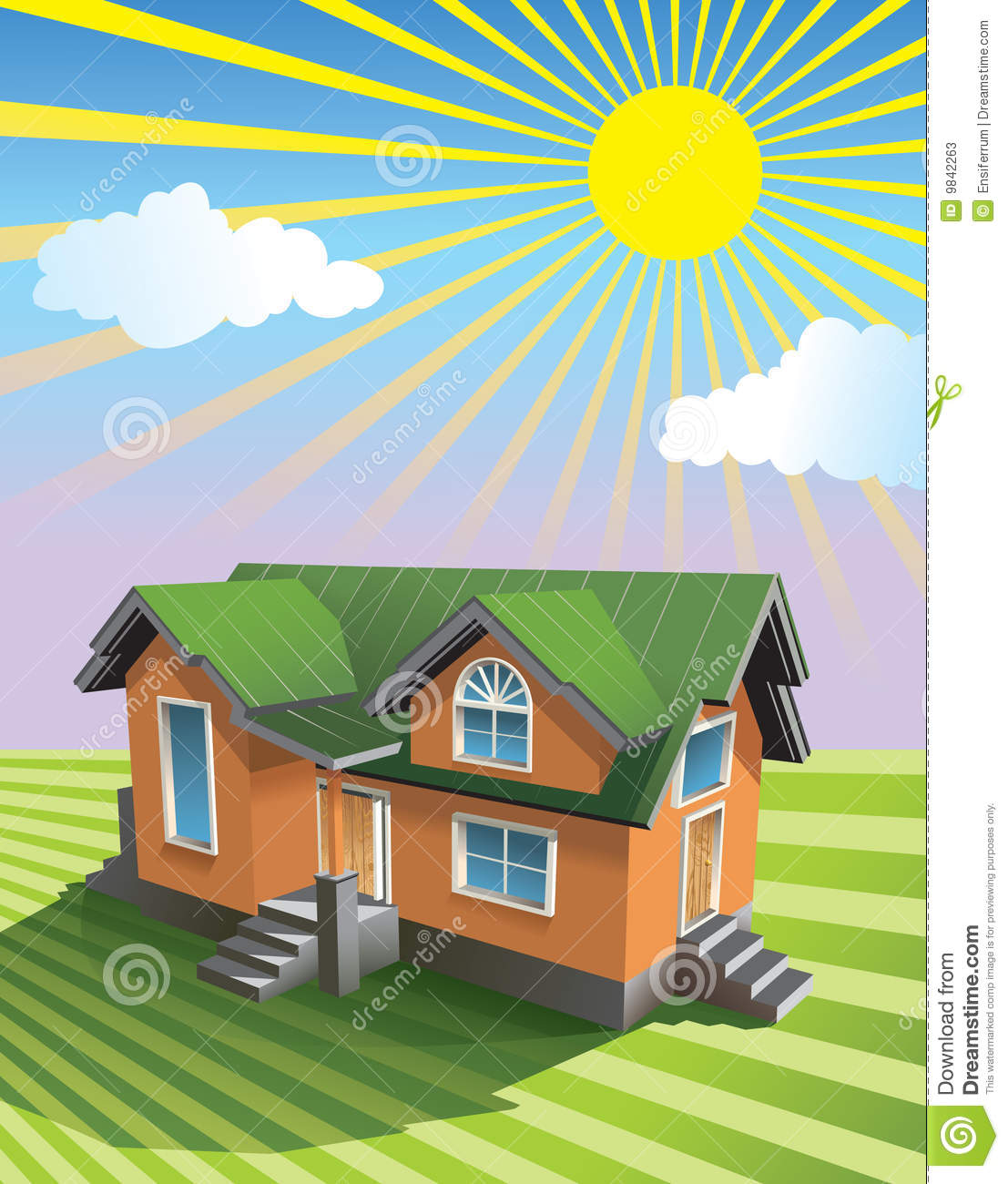 Pretty Small House Stock Vector Illustration Of Build 9842263