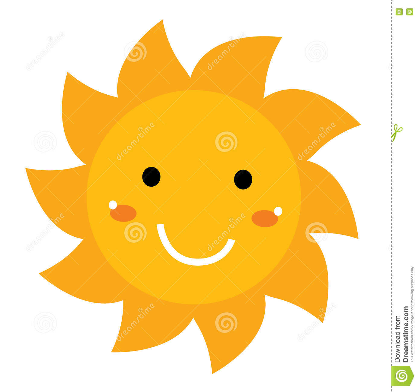 pretty smiling sun clipart isolated on white stock illustration rh dreamstime com smiling sun with sunglasses clipart Smiling Sun Clip Art Black and White