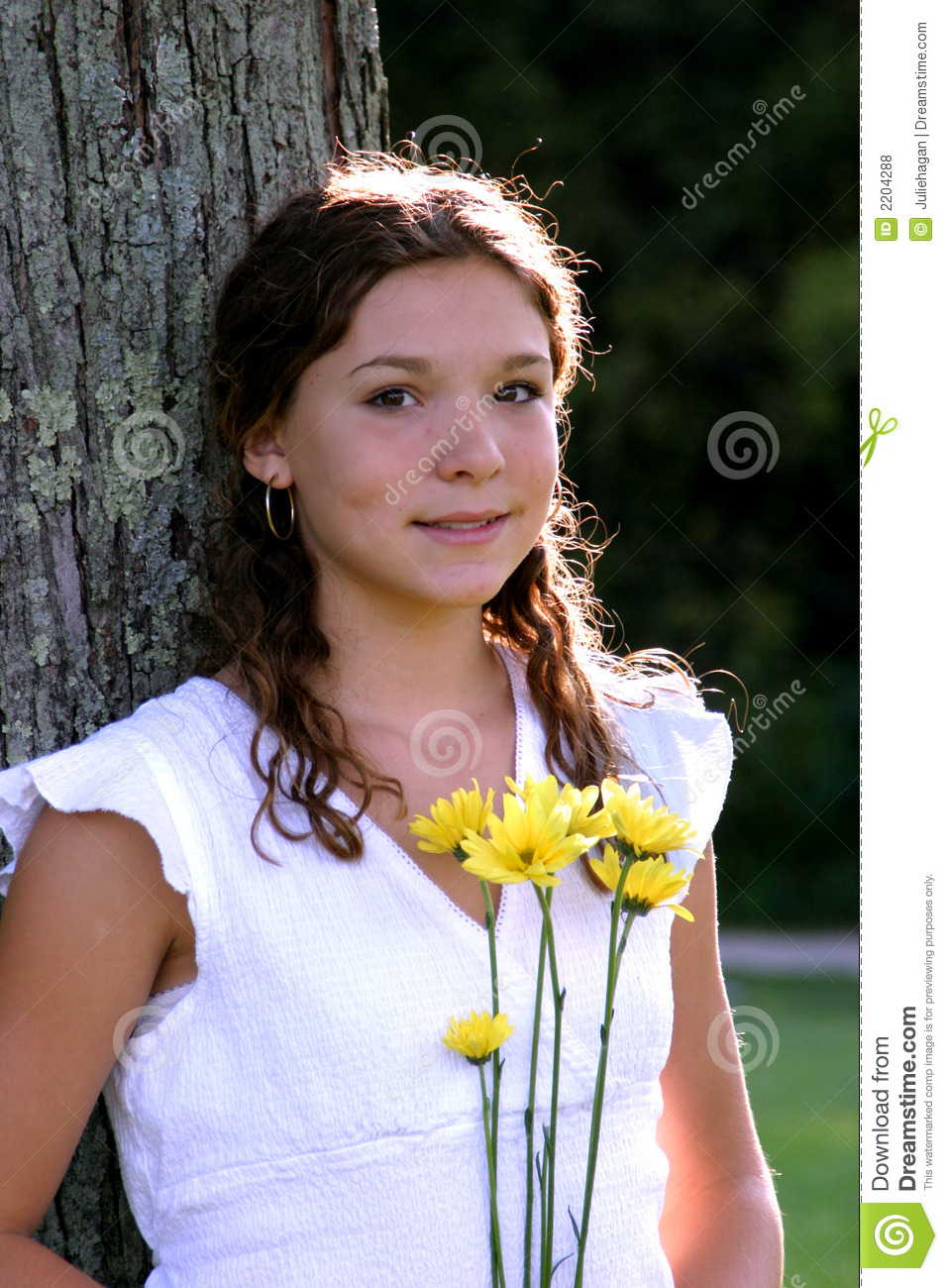 Pretty Teen Girl Stock Photo. Image Of People, Background