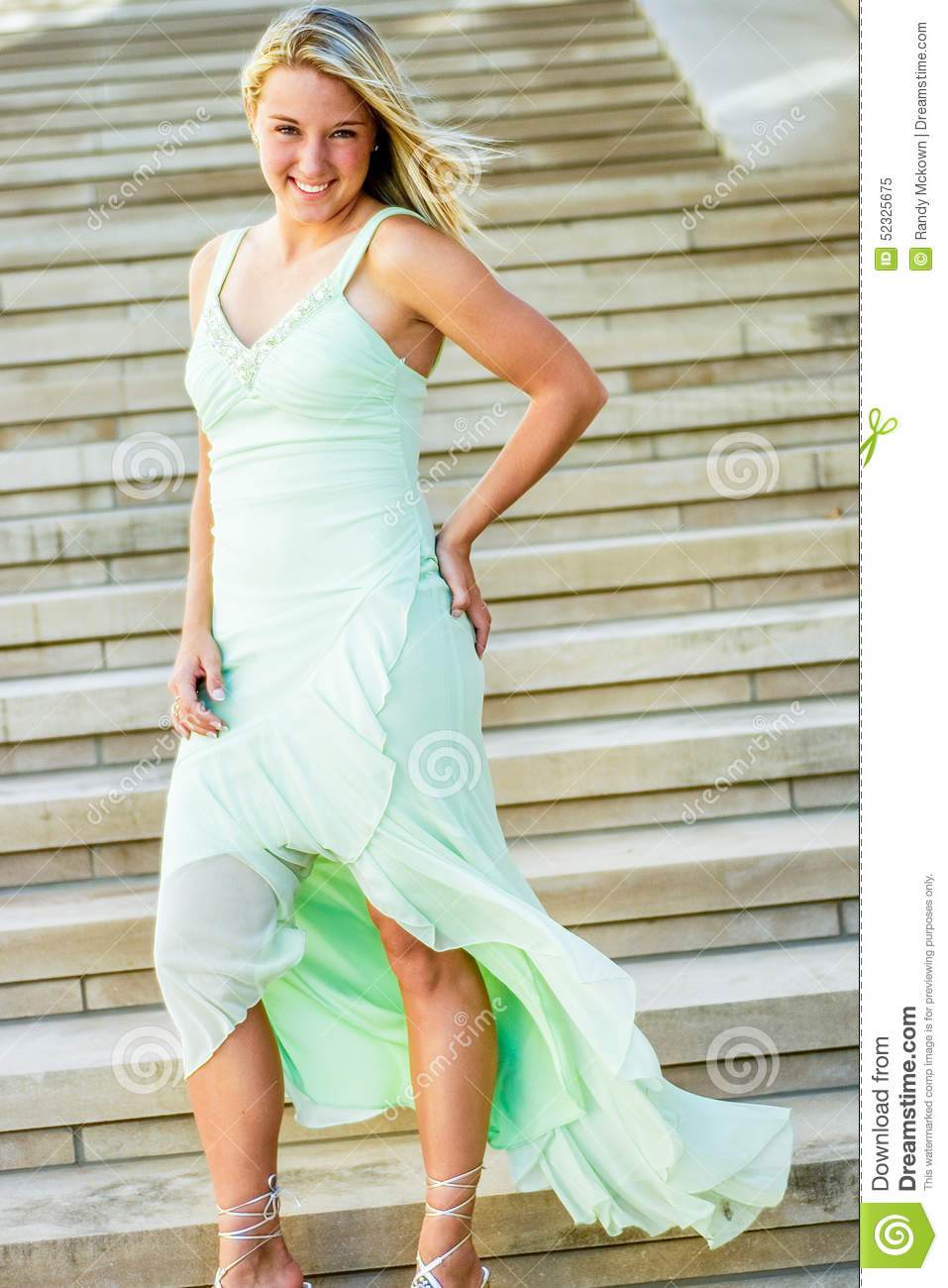 pretty teen girl with blonde hair stock photo   image