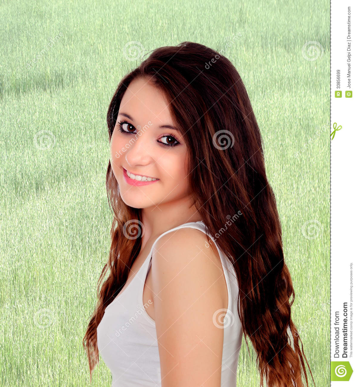 Pretty Teenage Girl With Big Eyes Royalty Free Stock