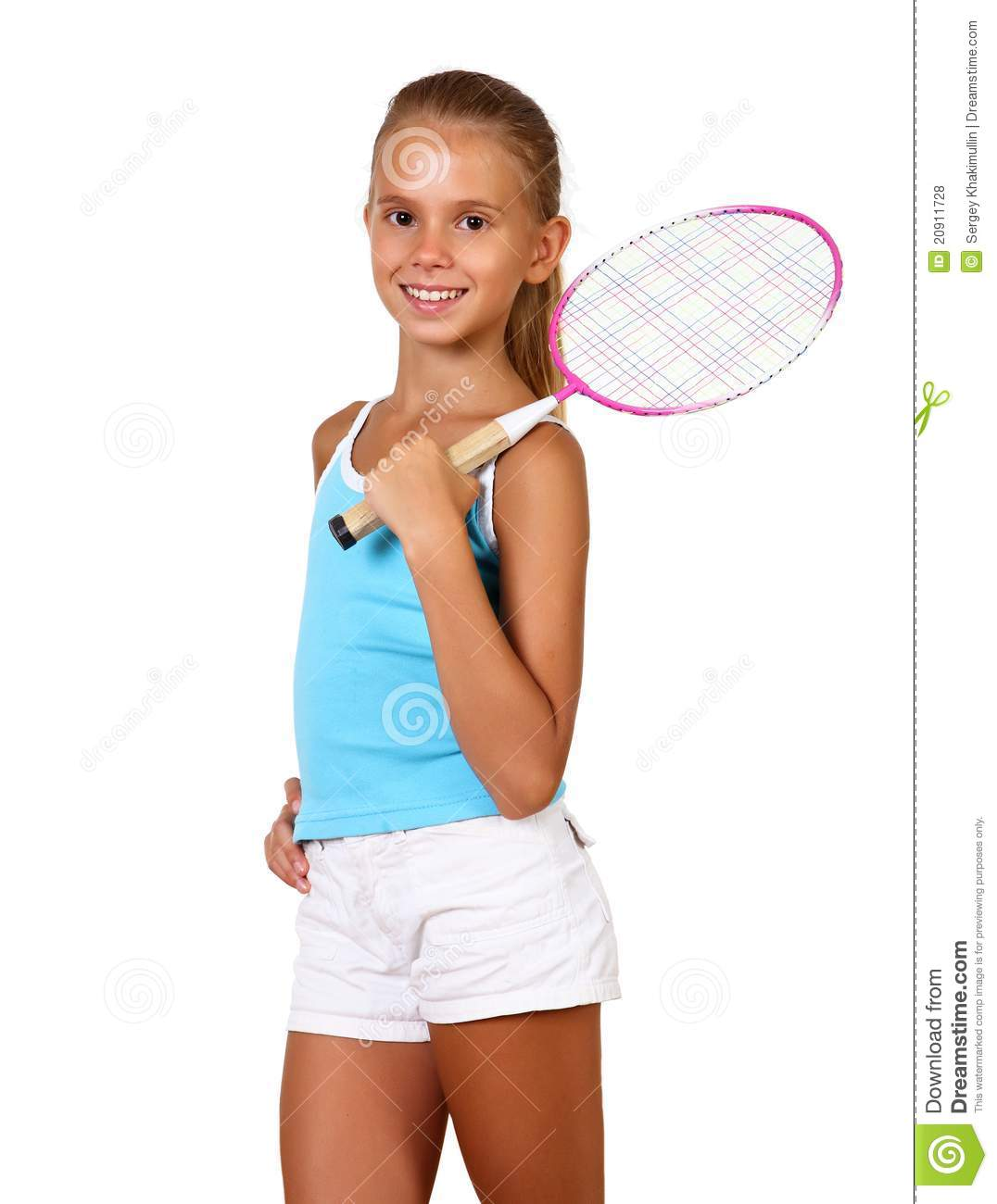 Http Dreamstime Com Royalty Free Stock Photos Pretty Teenage Girl Racket Image20911728