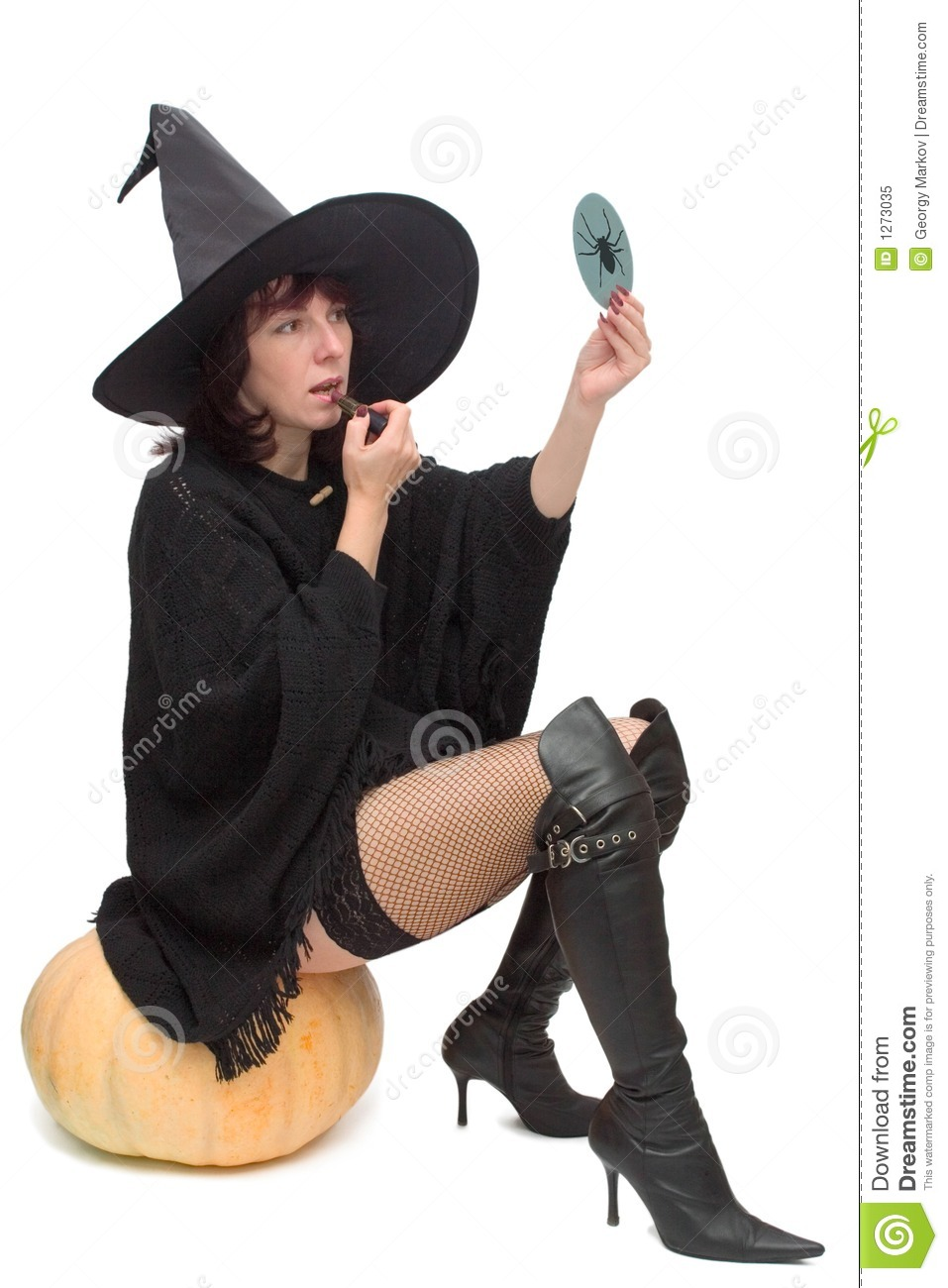 Pretty witch making up
