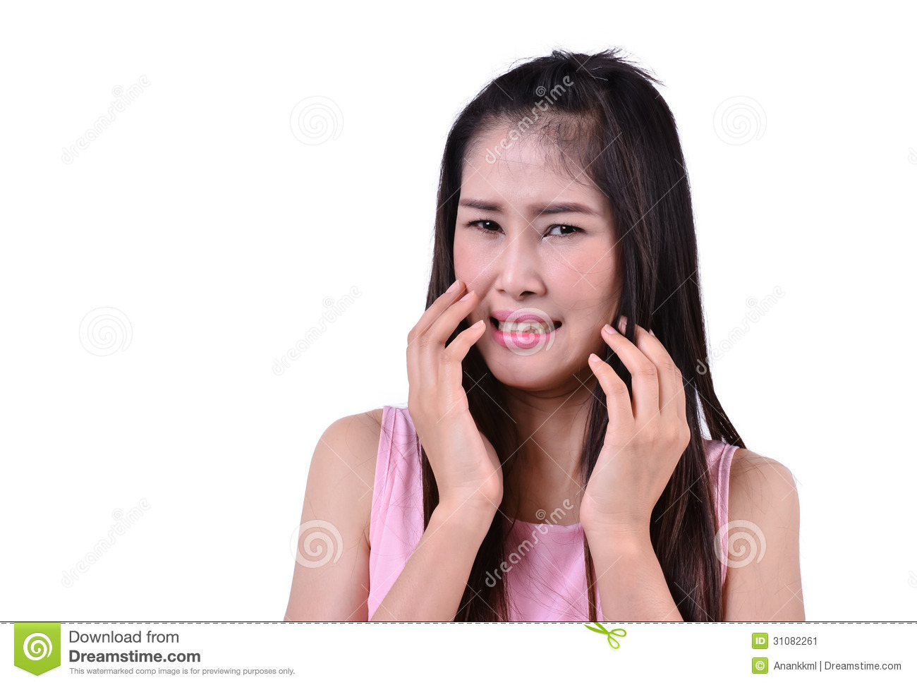 Pretty Woman With Disgusted Expression Stock Image - Image ...