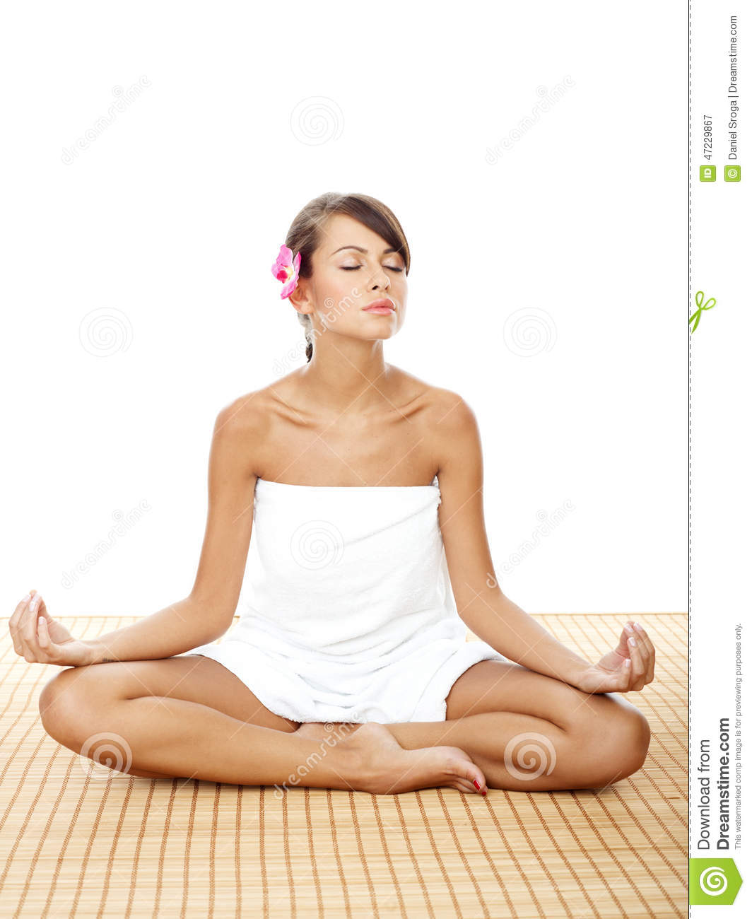 Pretty woman doing lotus yoga pose at the spa stock image image of pretty woman doing lotus yoga pose at the spa mightylinksfo