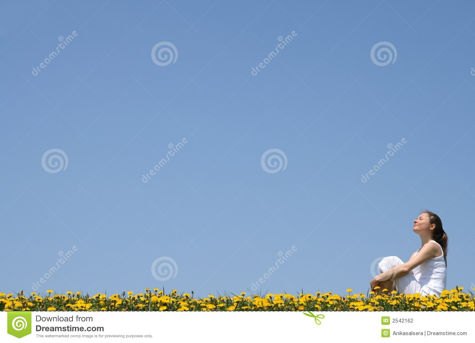 Pretty woman enjoying sunshine