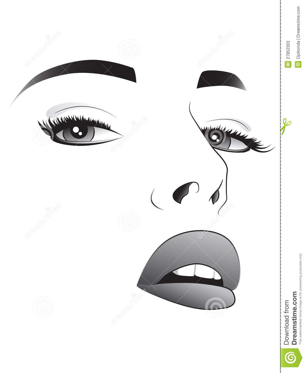 Pretty Woman Face Drawing Pretty Woman Face Sketch