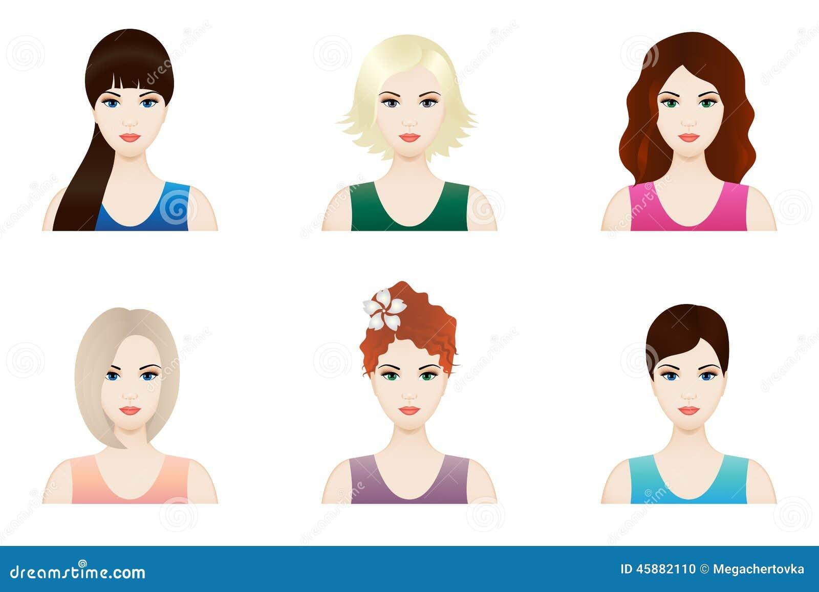 Pink Beautiful Face Lady Woman Logo Vector Set Design