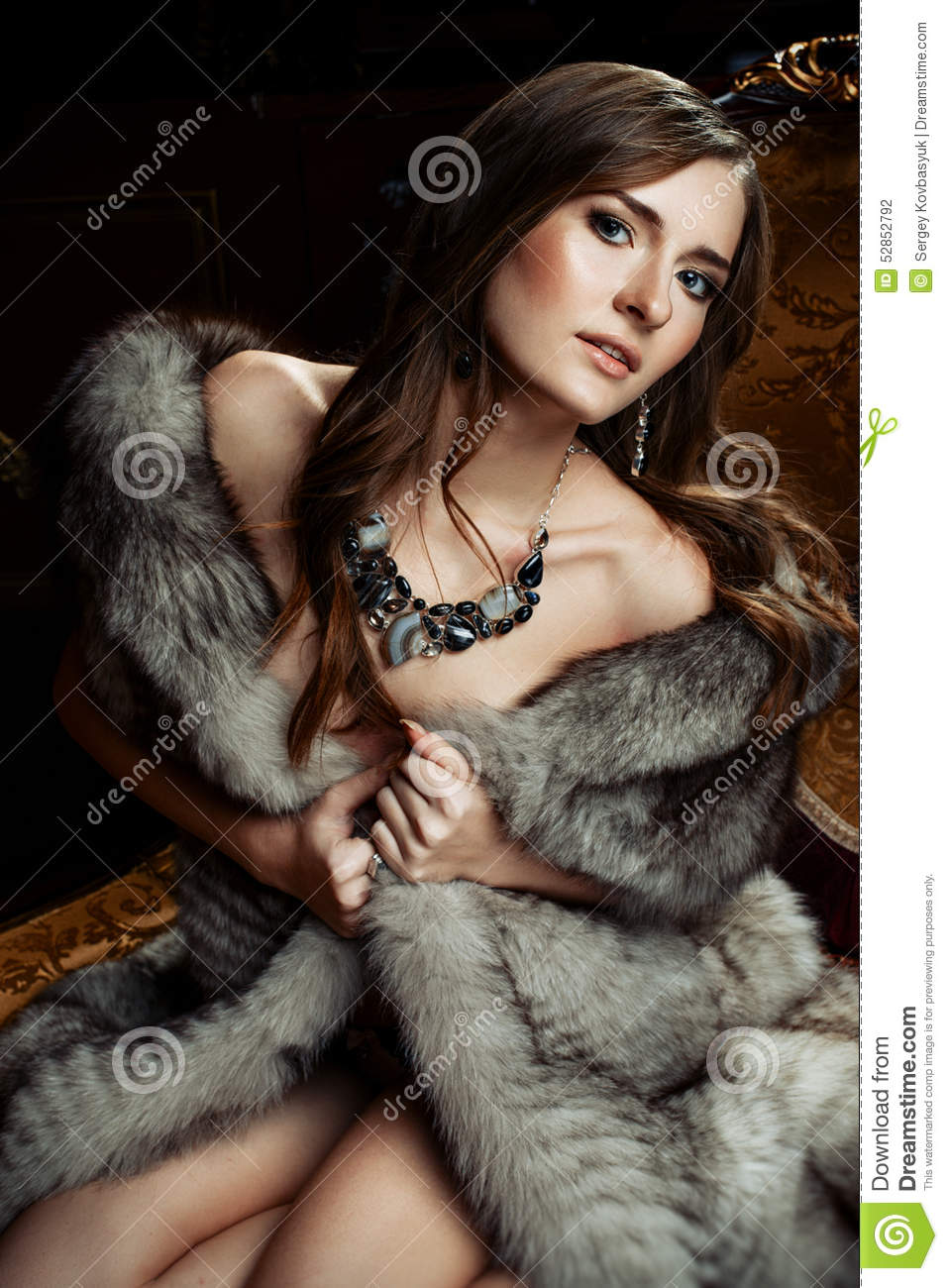 from Marlon nude woman in furs