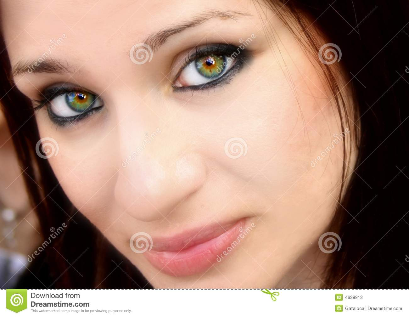 Stock Photos Pretty Woman With Green Eyes Image 4638913