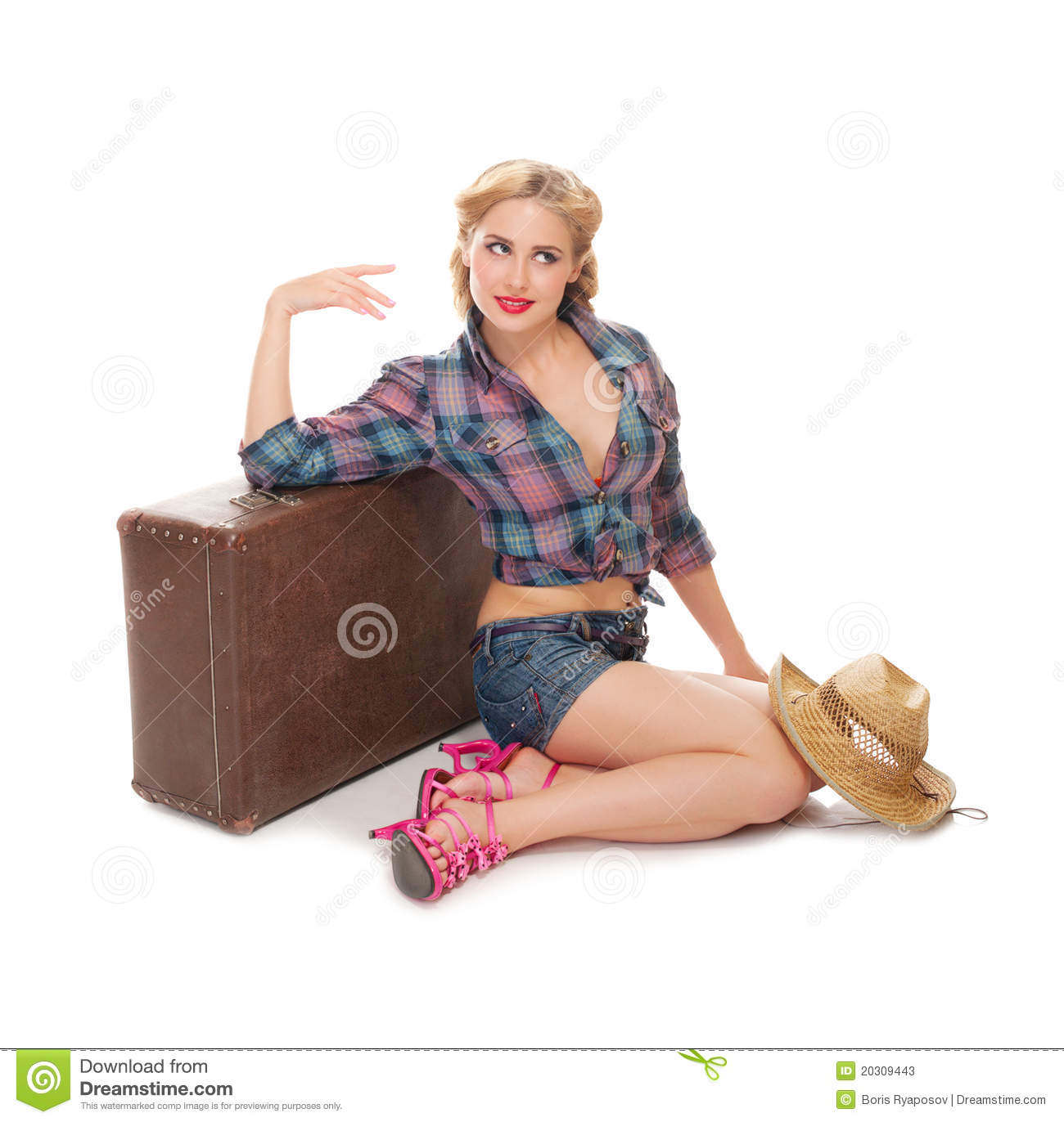 Pretty woman isolated stock image. Image of sensuality ...