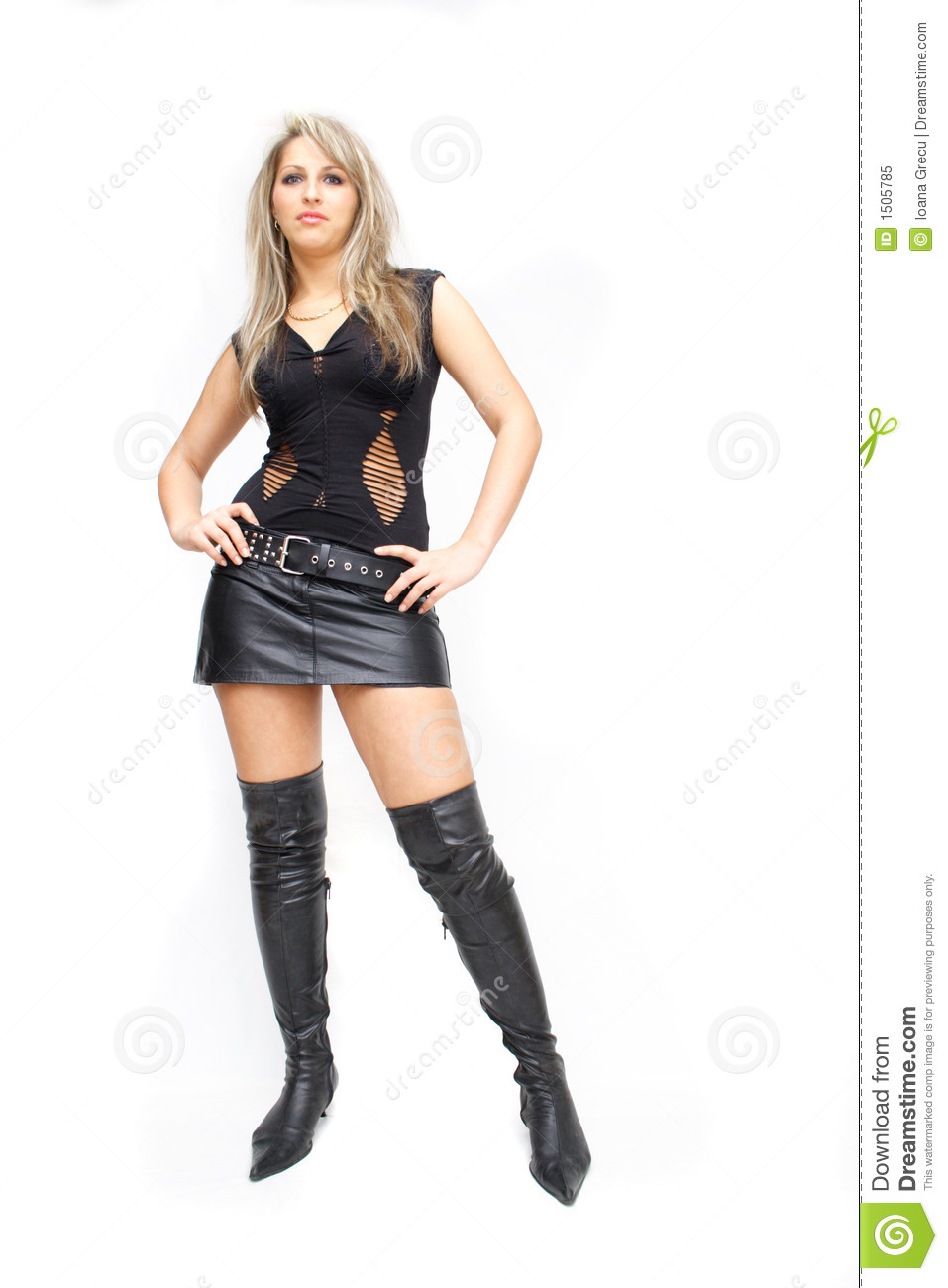 Pretty Woman In Leather Royalty Free Stock Photo - Image: 1505785