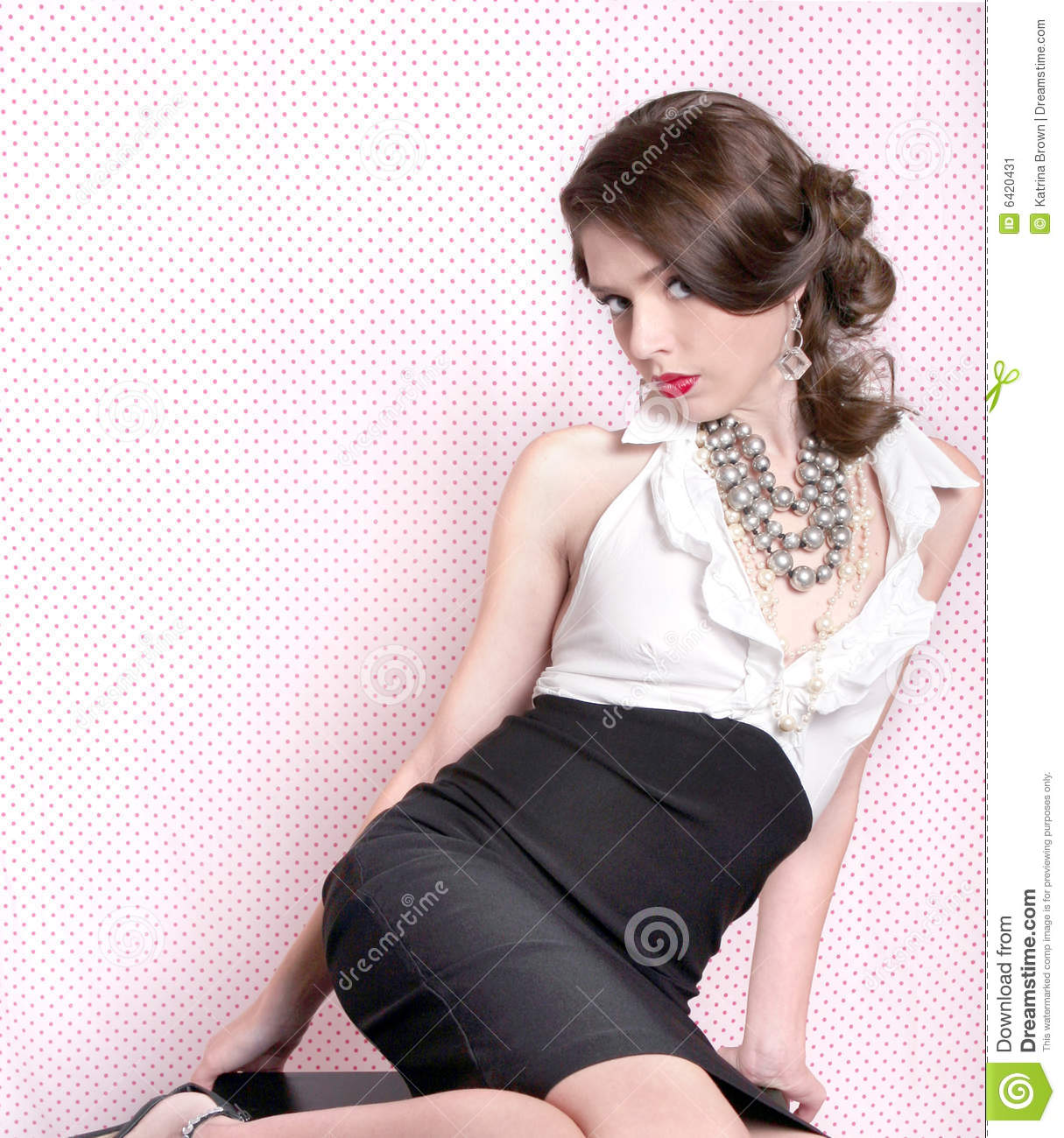 Pretty Woman in Retro Vintage Style