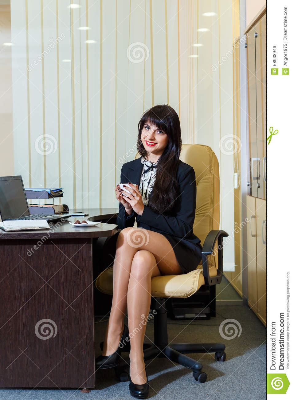 skirt Office secretary legs short