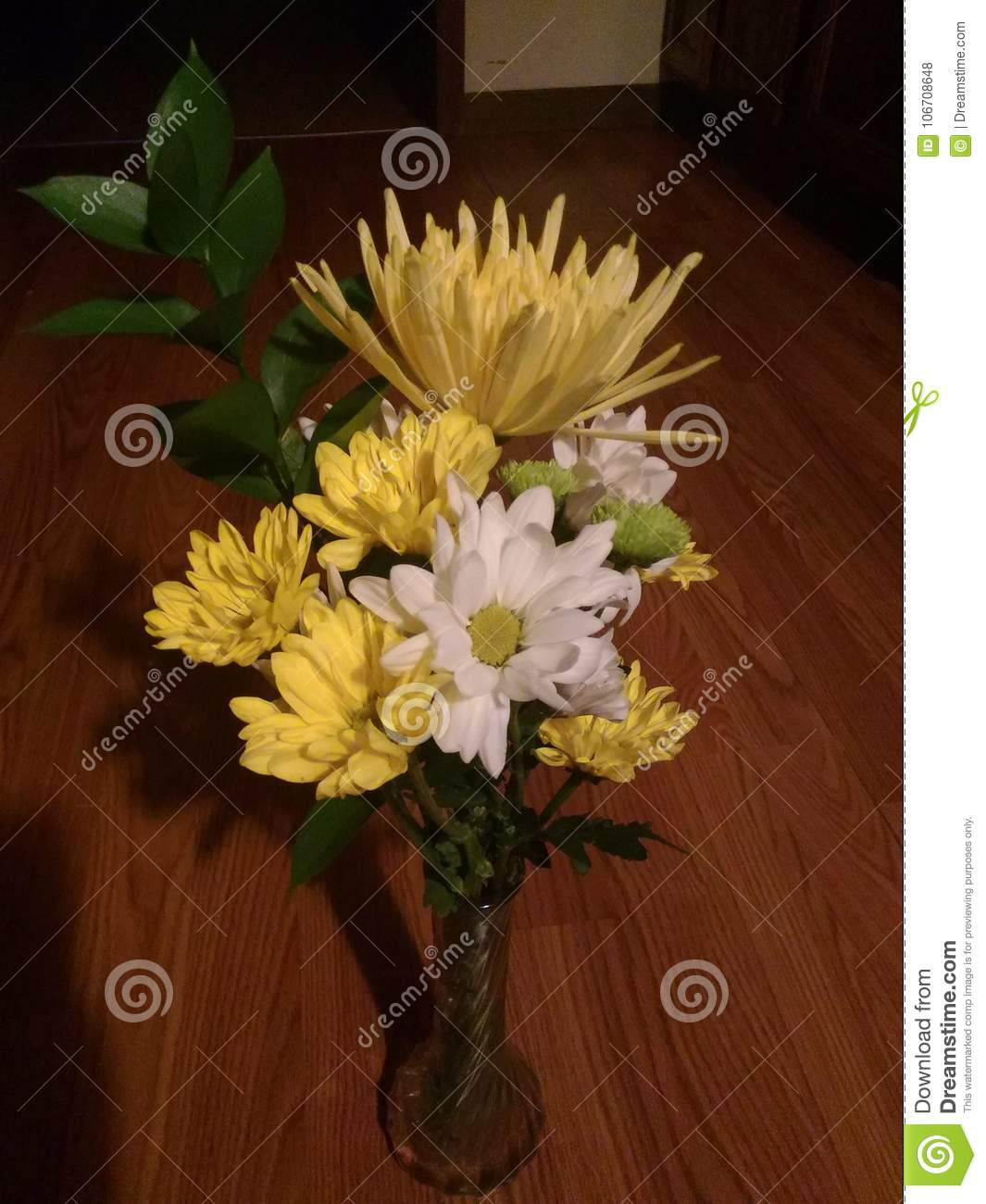 Pretty Yellow Florals Stock Photo Image Of White Flower 106708648