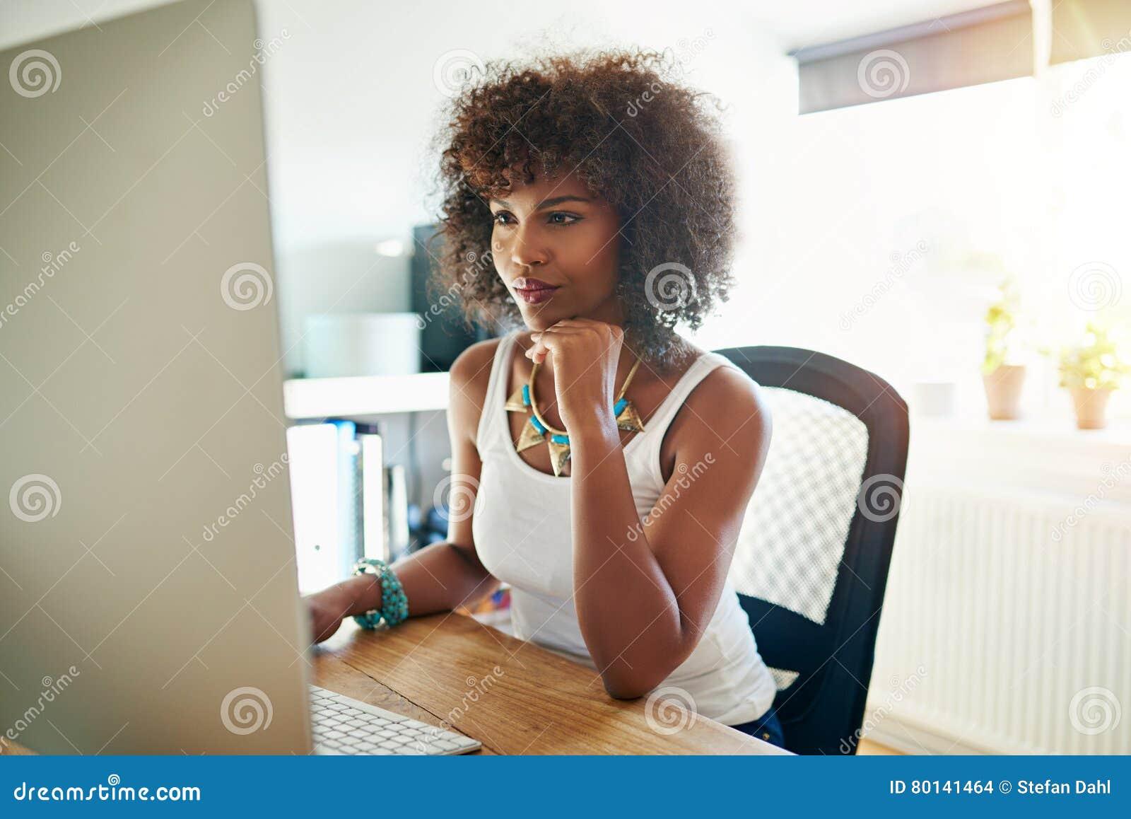 Pretty young female entrepreneur