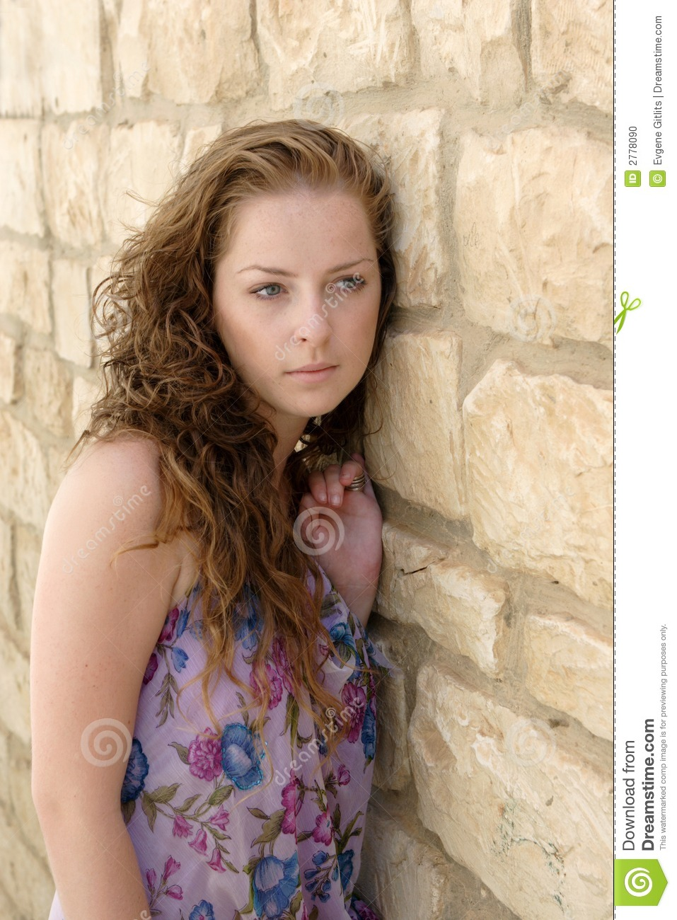 Pretty Young Girl Stock Photo. Image Of Urban, Long, Youth