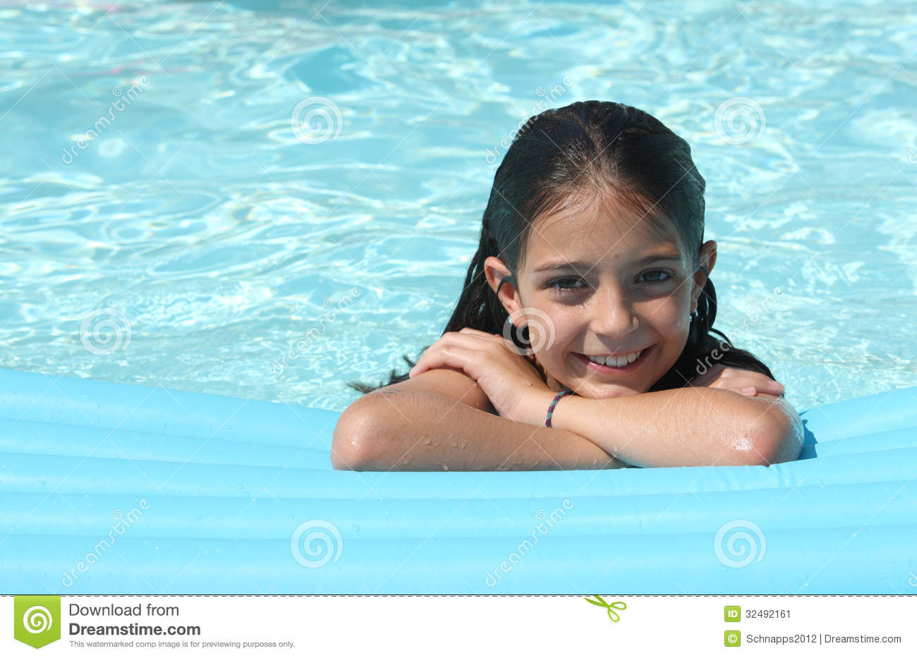 Pretty Young Girl In A Swimming Pool Stock Image Image