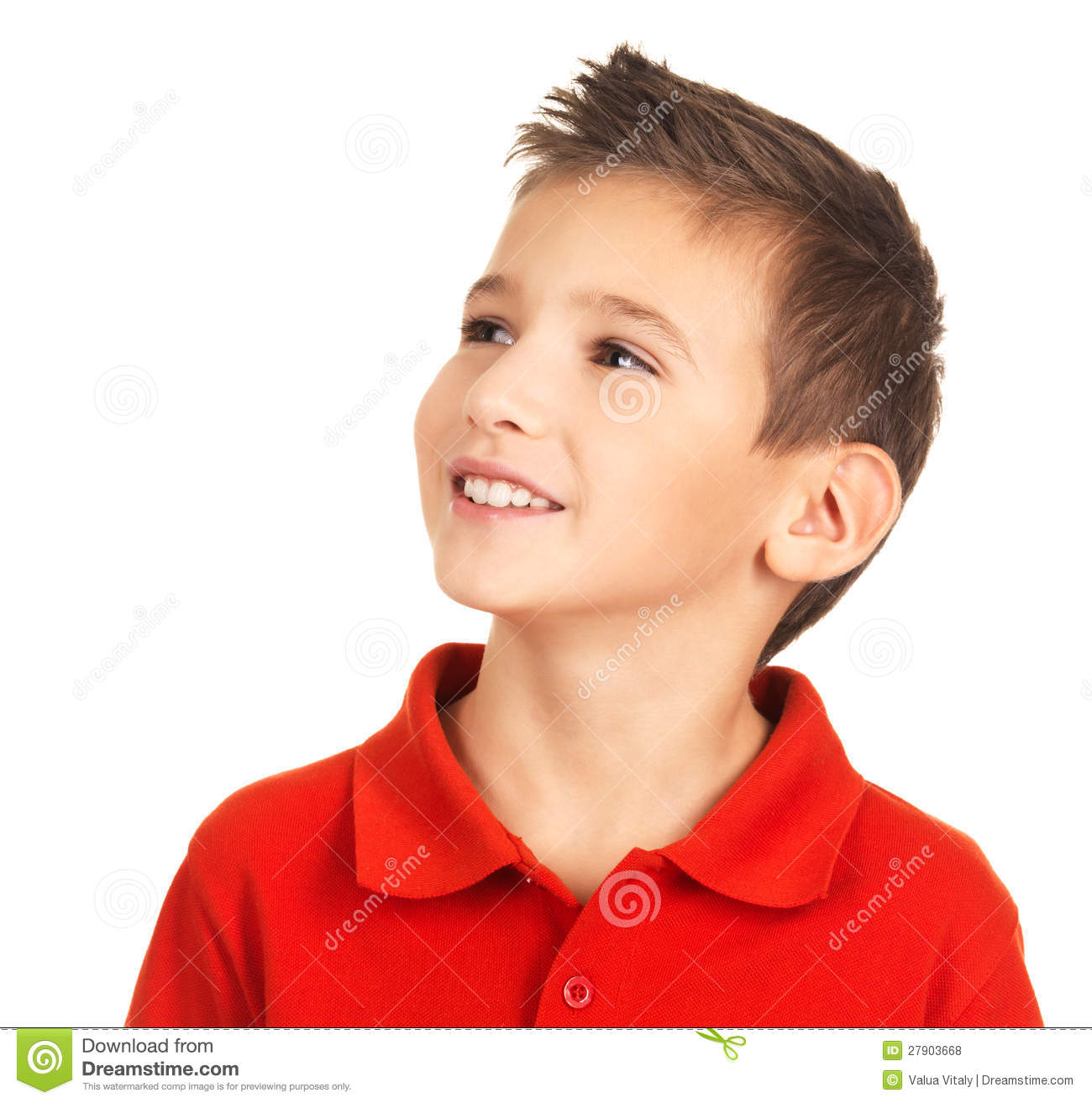 Pretty Young Happy Boy Looking Away Royalty Free Stock