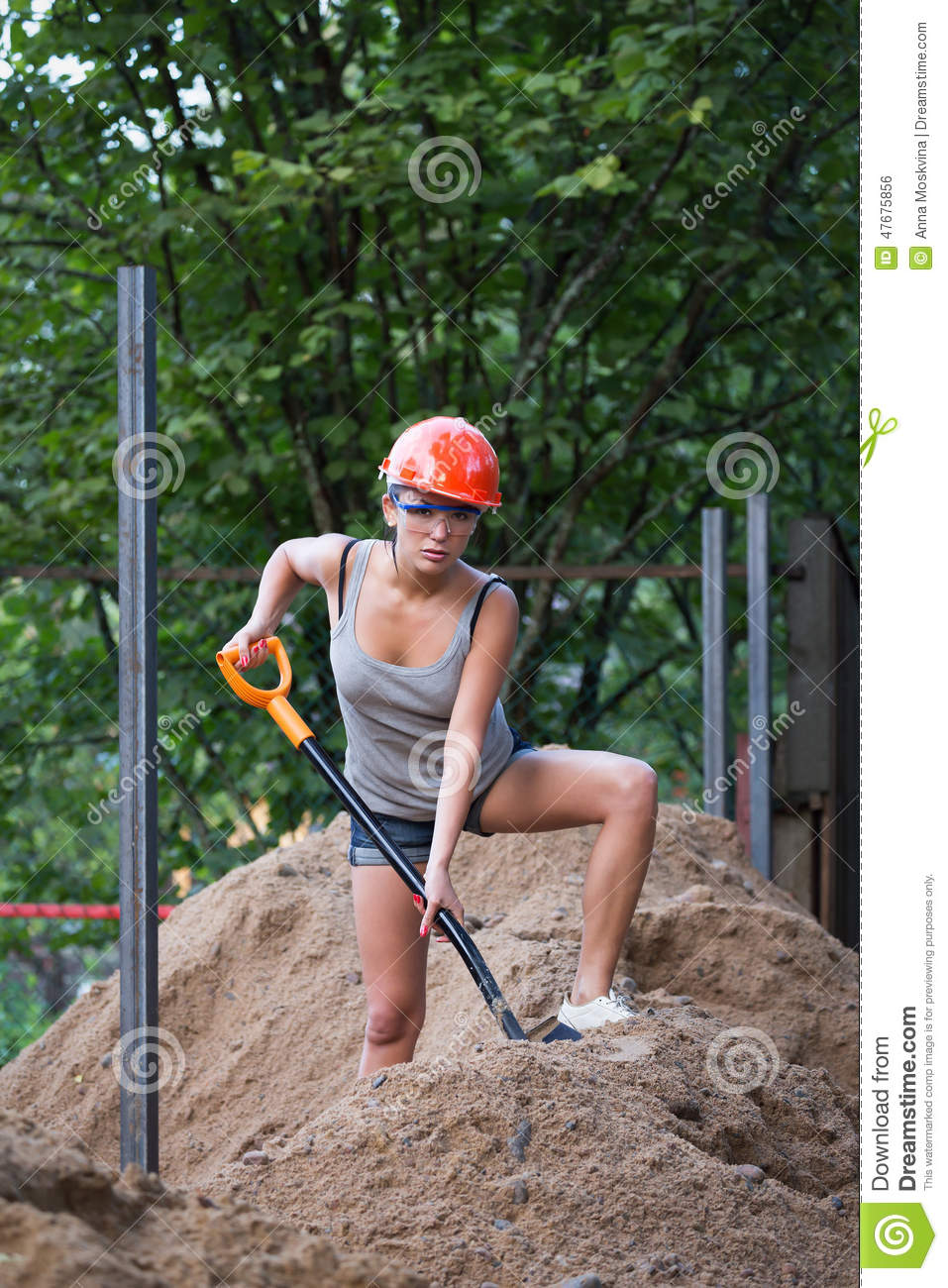 The young man digging ground and preparing for planting on for Digging ground dream meaning