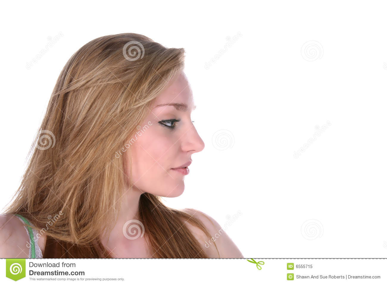 Pretty young woman's profile