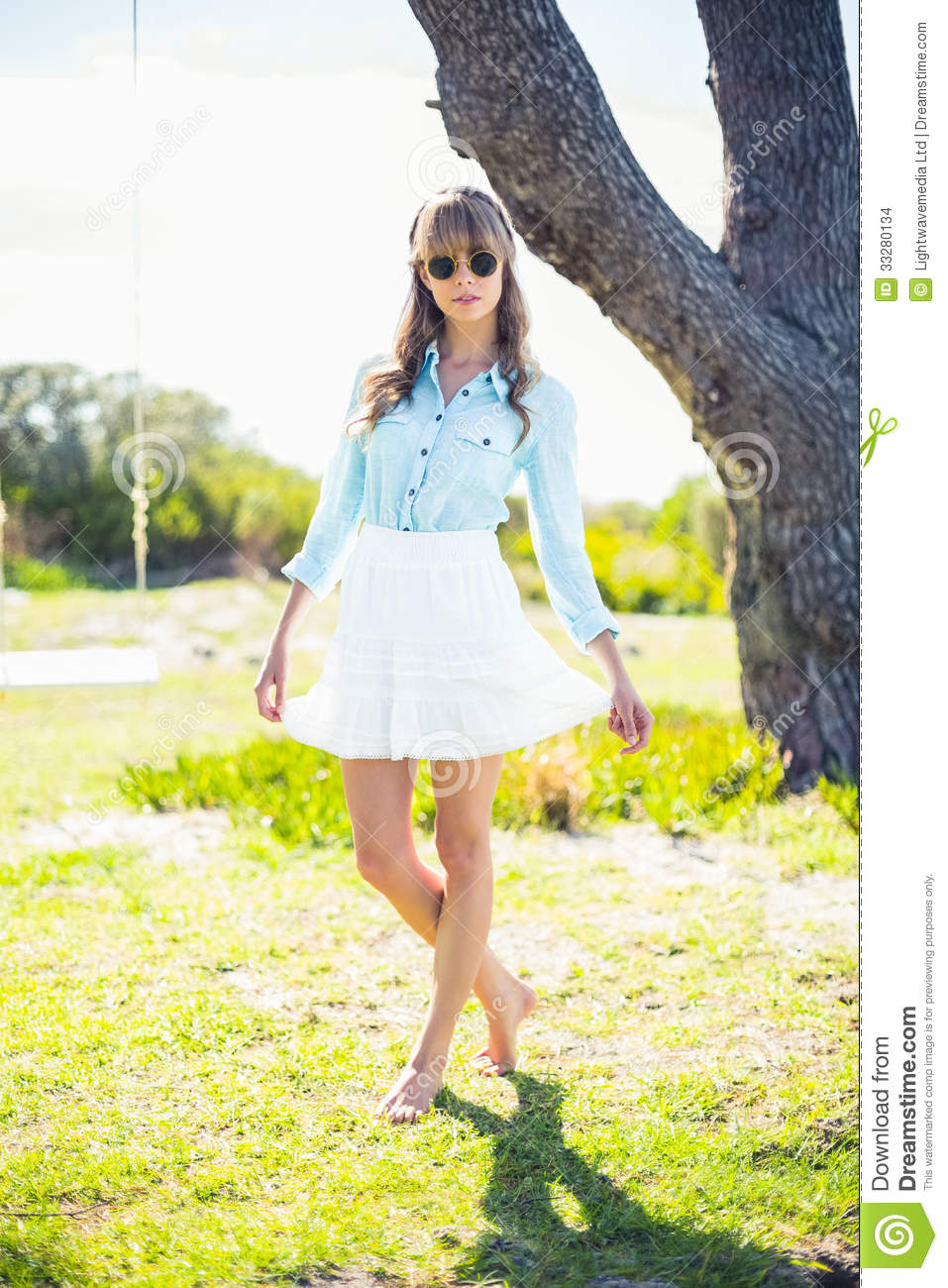 Pretty Young Woman Wearing Trendy Clothes Stock Images Image 33280134