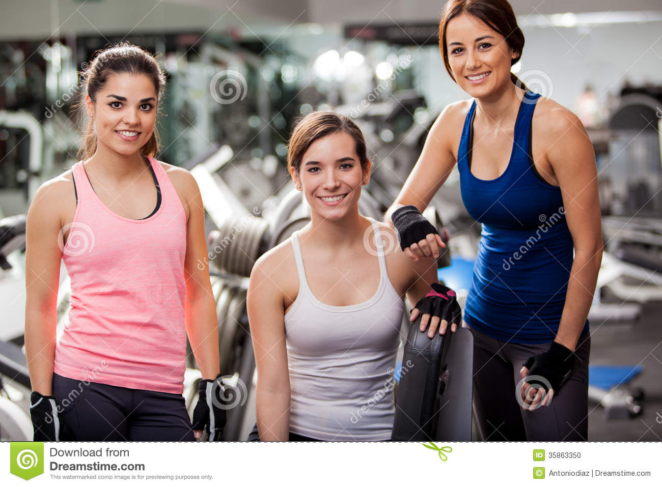 how to work out at the gym for women