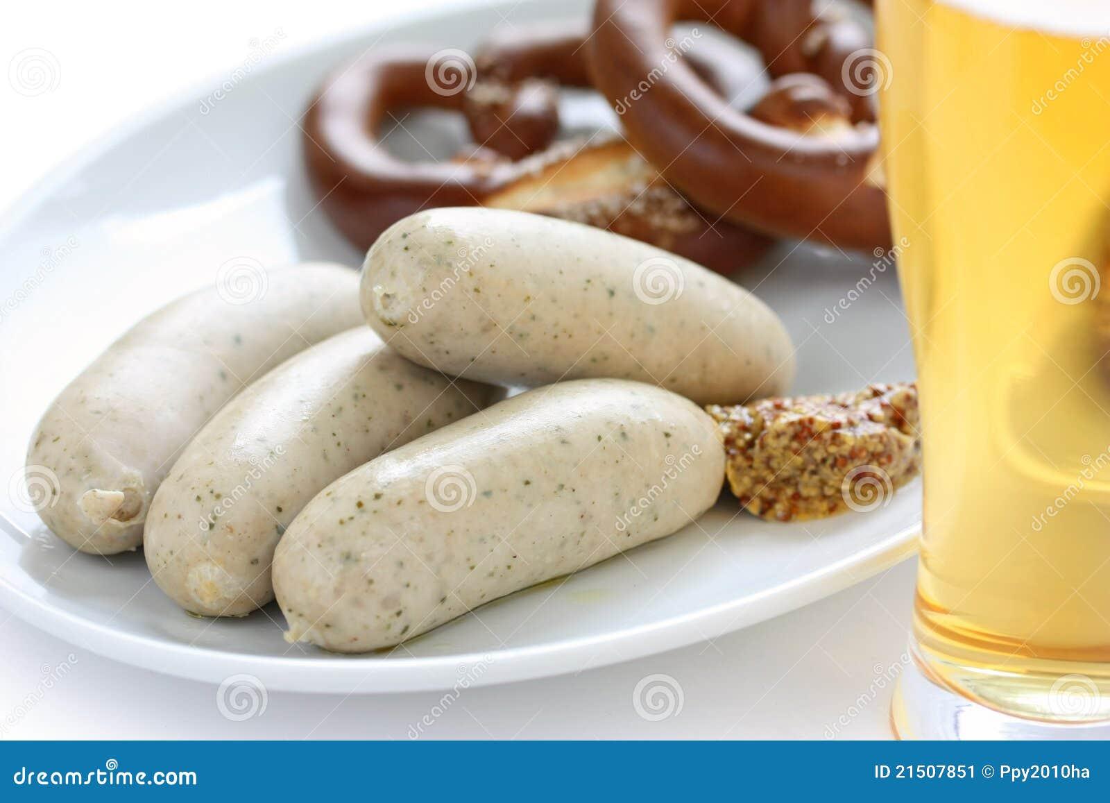 Pretzel μπύρας weisswurst