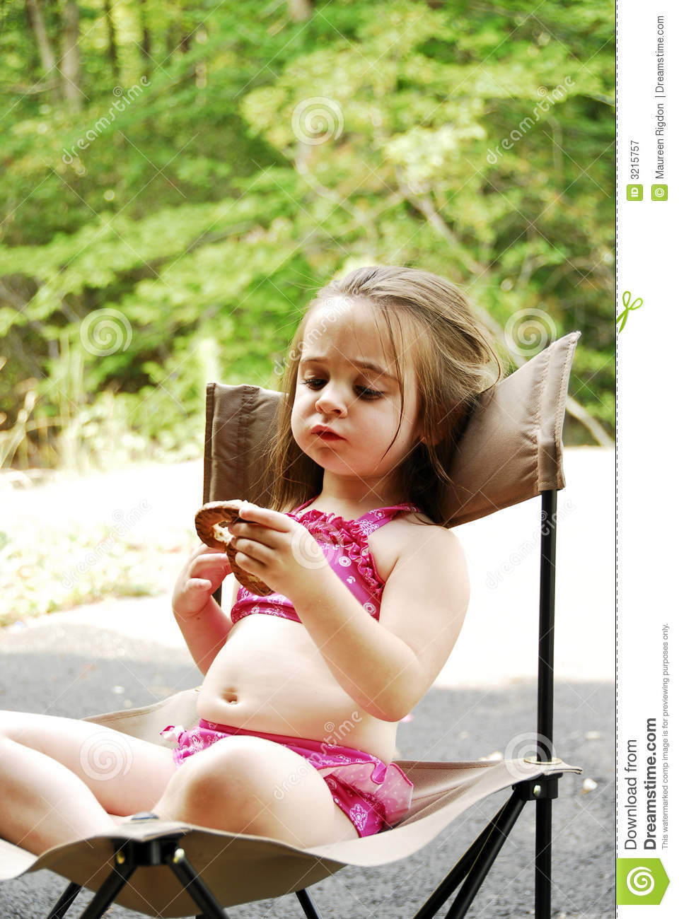 Pretzel Girl Royalty Free Stock Photography - Image: 3215757