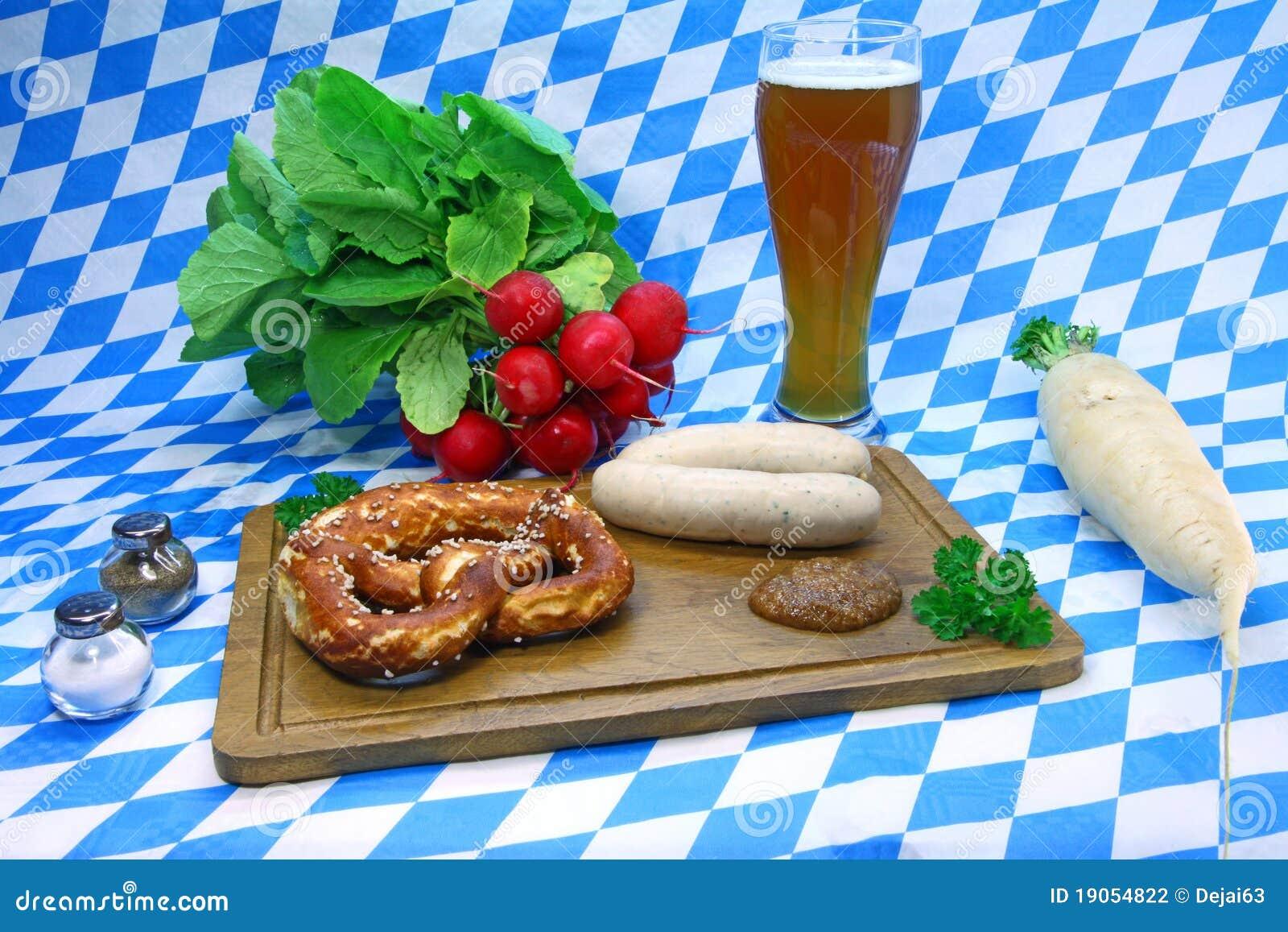 Pretzel and weisswurst