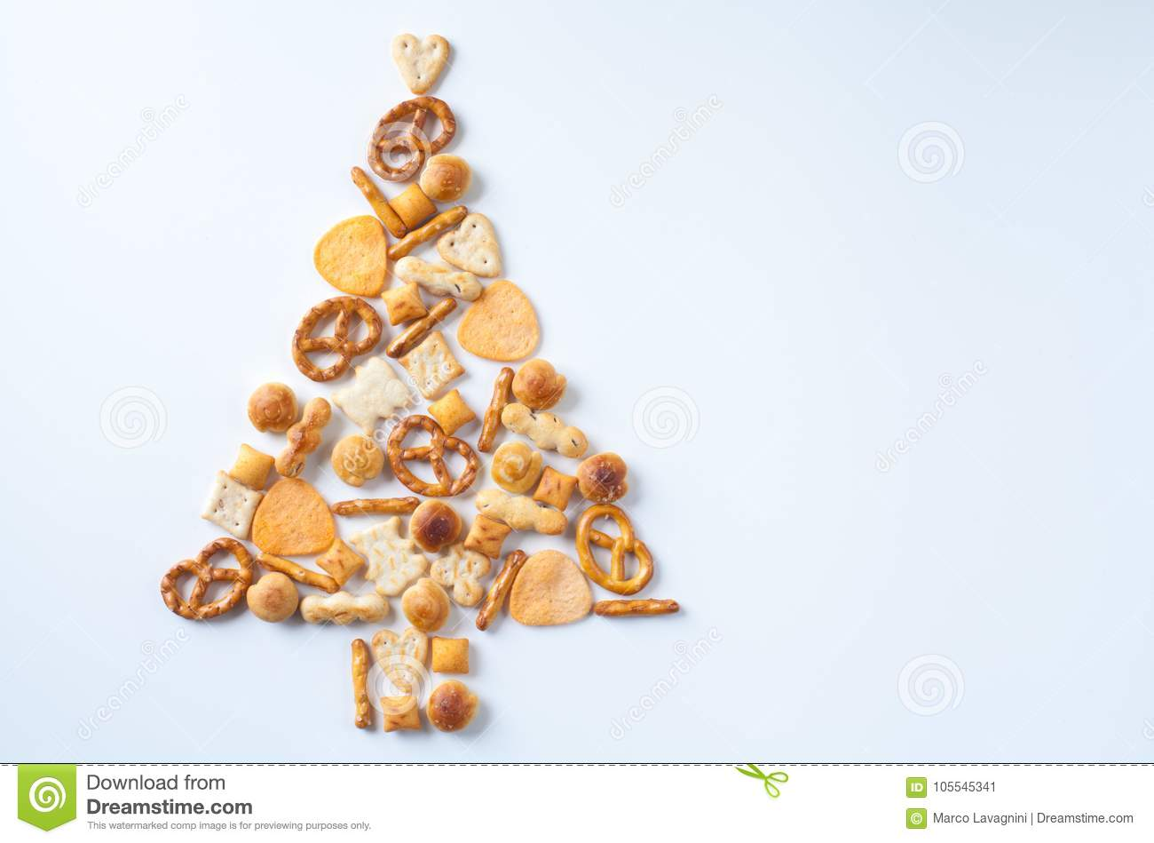 download pretzels set as christmas tree stock image image of invitation december 105545341