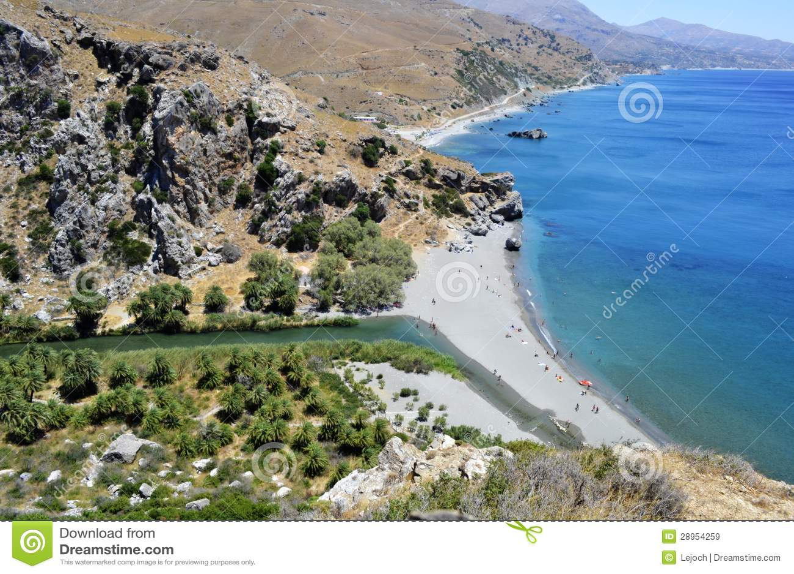 Preveli plaża w Crete, Grecja