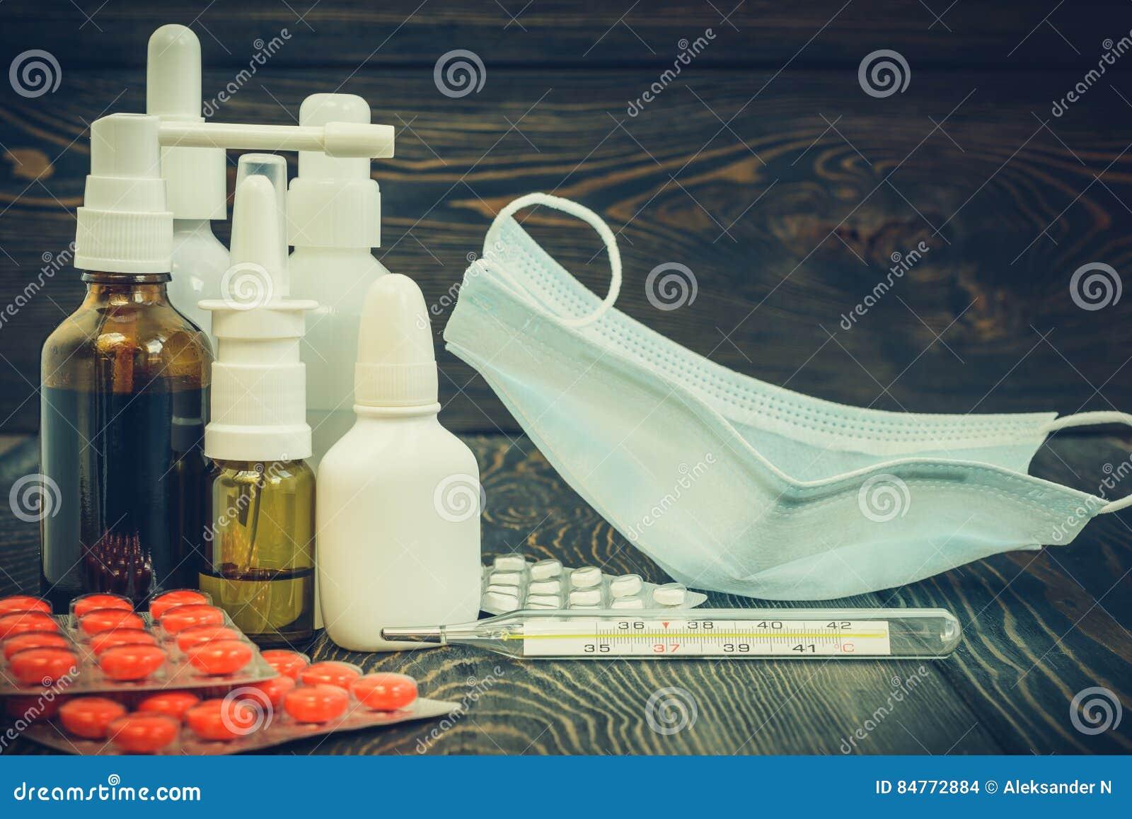 Preventivpillerar Näsdroppar En Kall Behandling, Influensa