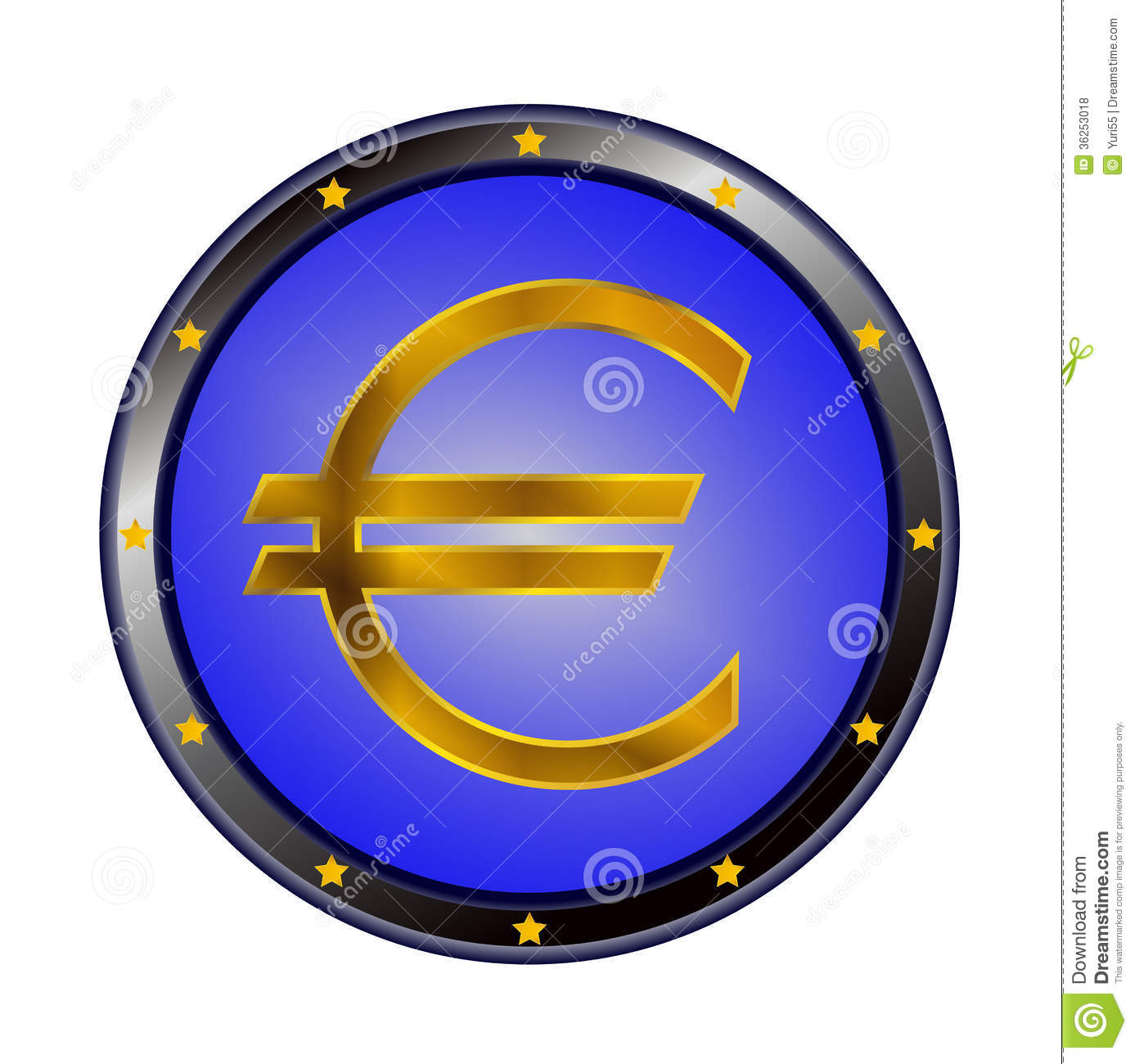Preview Of The Euro Sign Stock Vector Illustration Of Euro 36253018