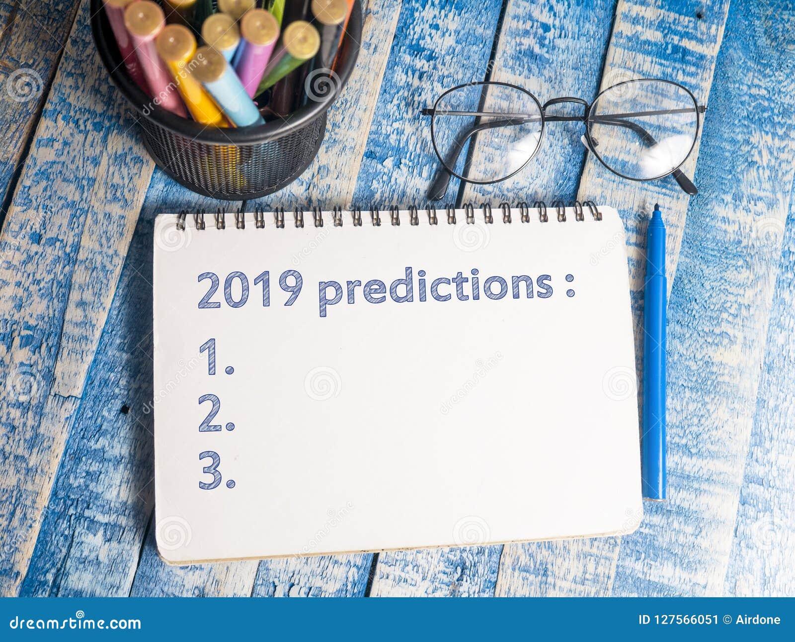 2019 previsões, conceito inspirador das citações das palavras