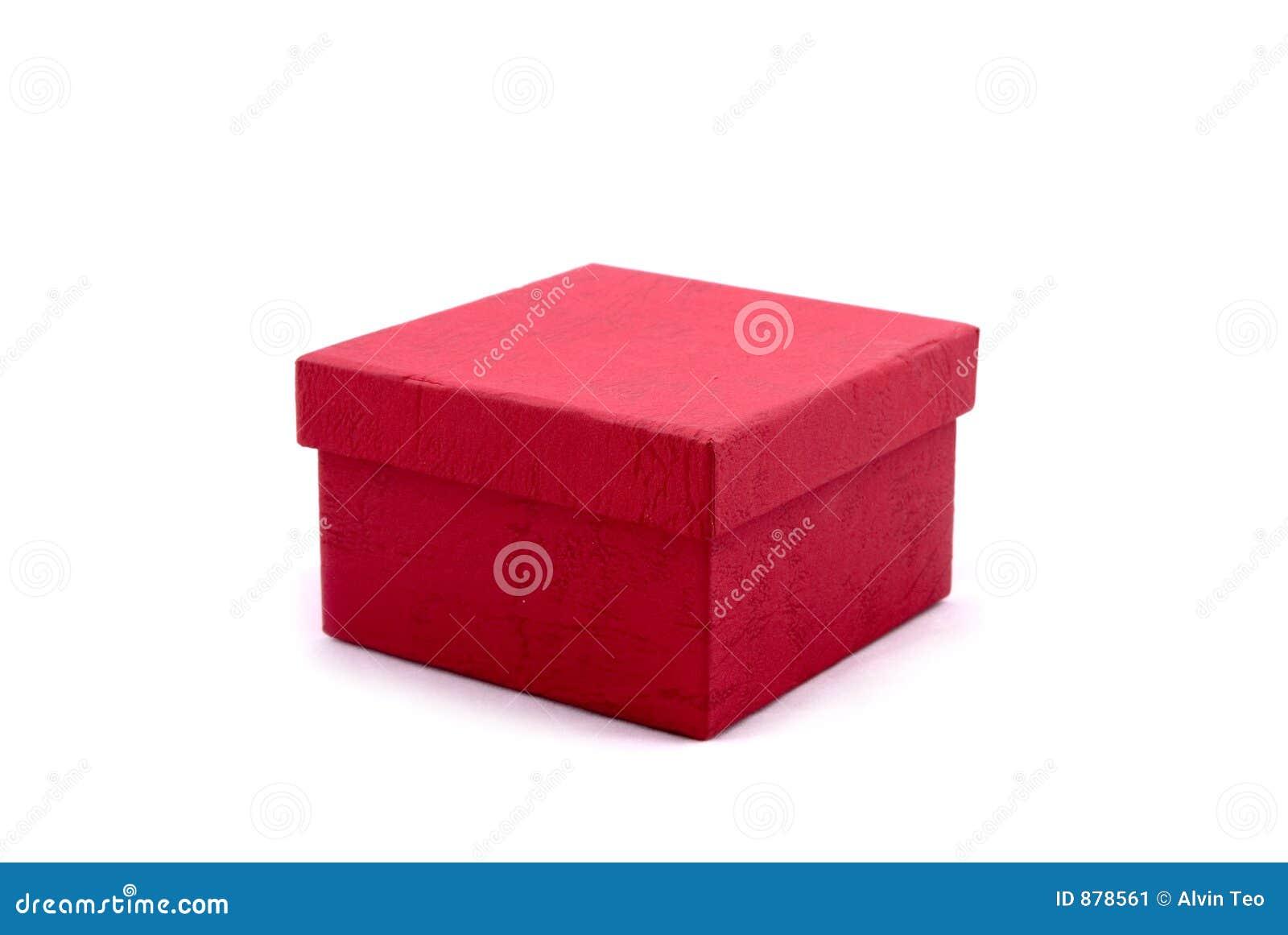 Prezent pudełkowata równiny czerwony
